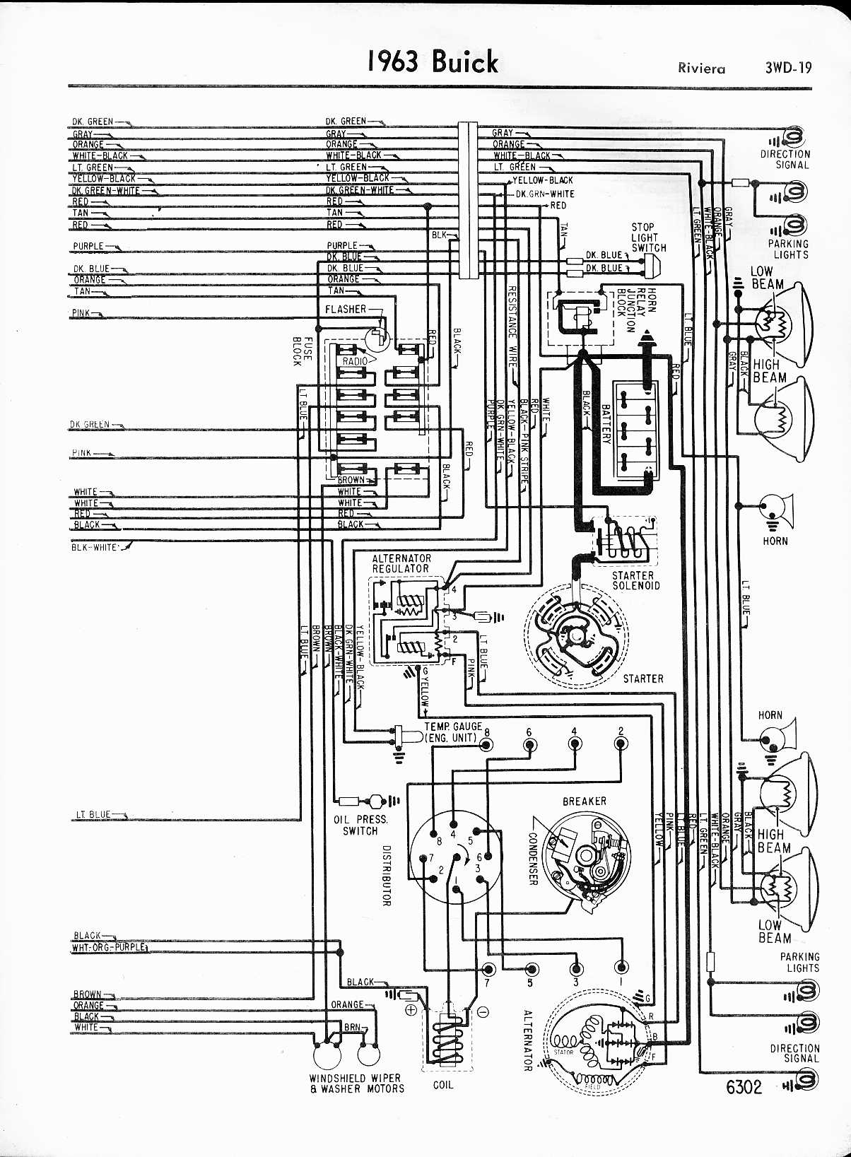 buick wiring diagrams 1957 1965 1963 riviera right half