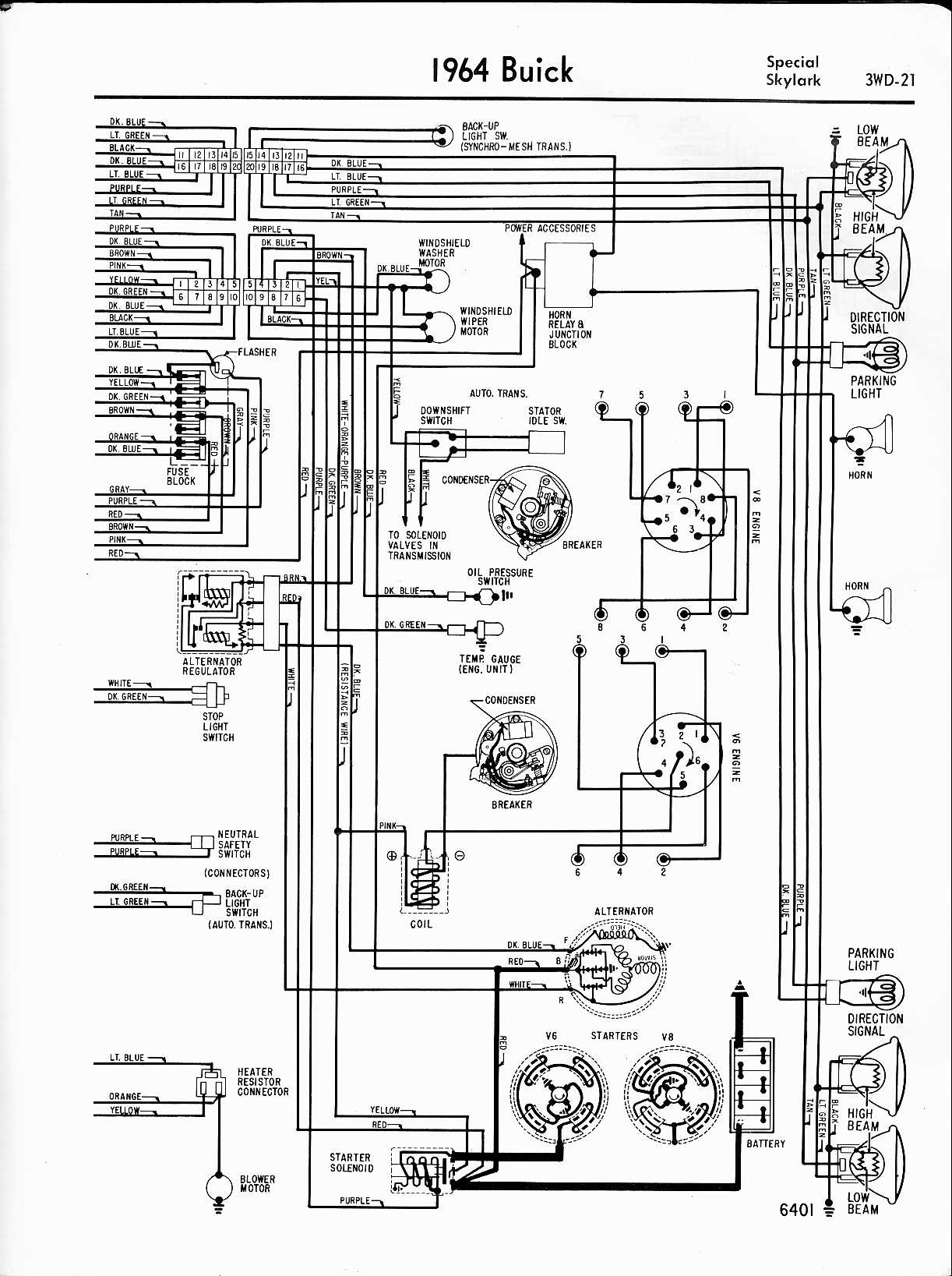 buick wiring diagrams 1957 1965 wiring harness for 1964 buick riviera
