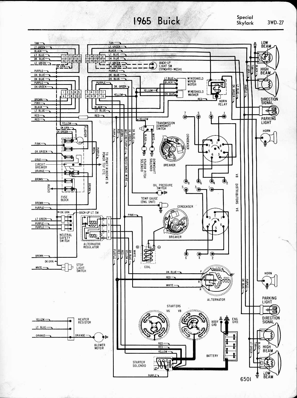 Buick Wiring Schematics Diagram Data For 1968 Ford Mustang Diagrams 1957 1965 Automotive Special Skylark Right Half