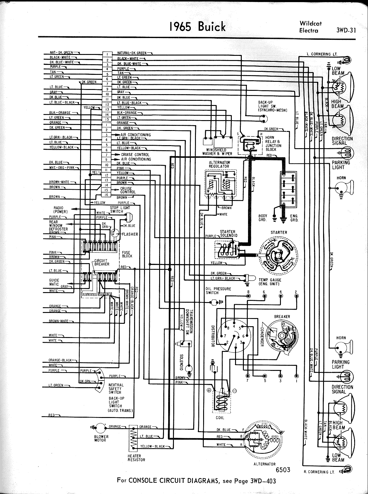 Buick Wiring Diagrams 1957 1965 1991 Pontiac 3 1l Engine Diagram Wildcat Electra Left Half