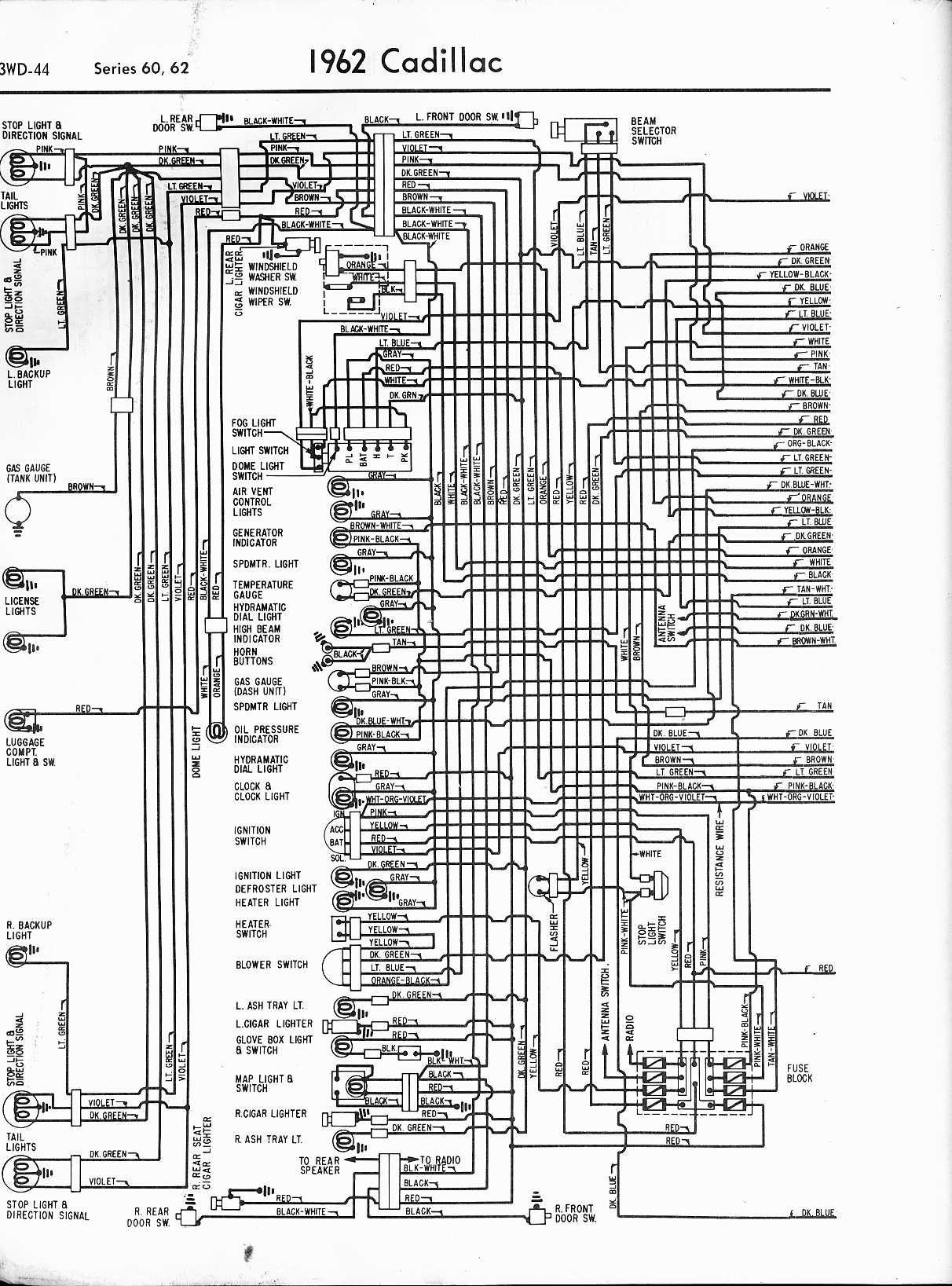 [DIAGRAM_5UK]  Cadillac Wiring Diagrams: 1957-1965 | 1966 Cadillac Wiring Diagram |  | The Old Car Manual Project