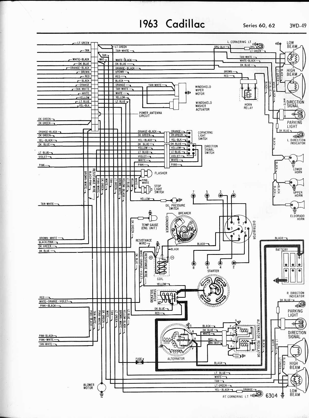 Cadillac Wiring Diagrams  1957