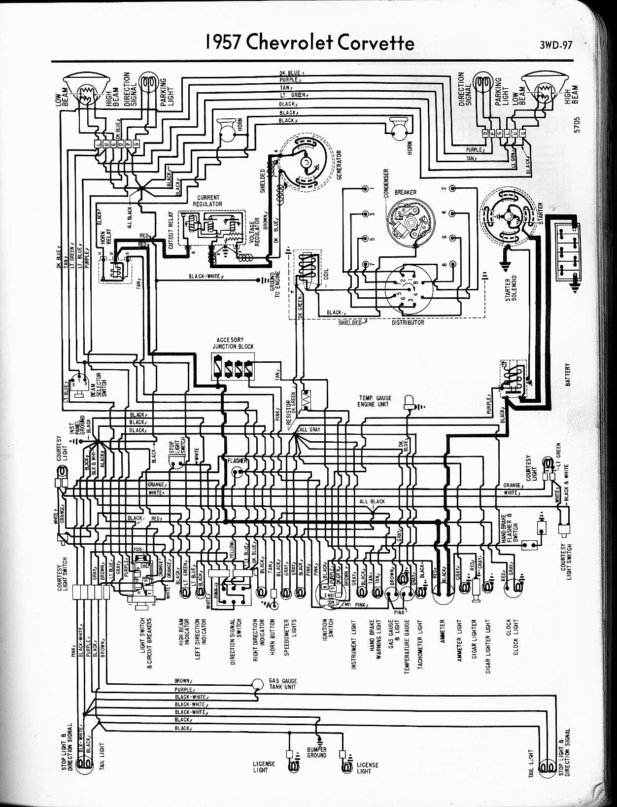 57 65 chevy wiring diagrams rh oldcarmanualproject com 1957 Chevy Original Engine 1957 Chevy Fuse Block Diagram