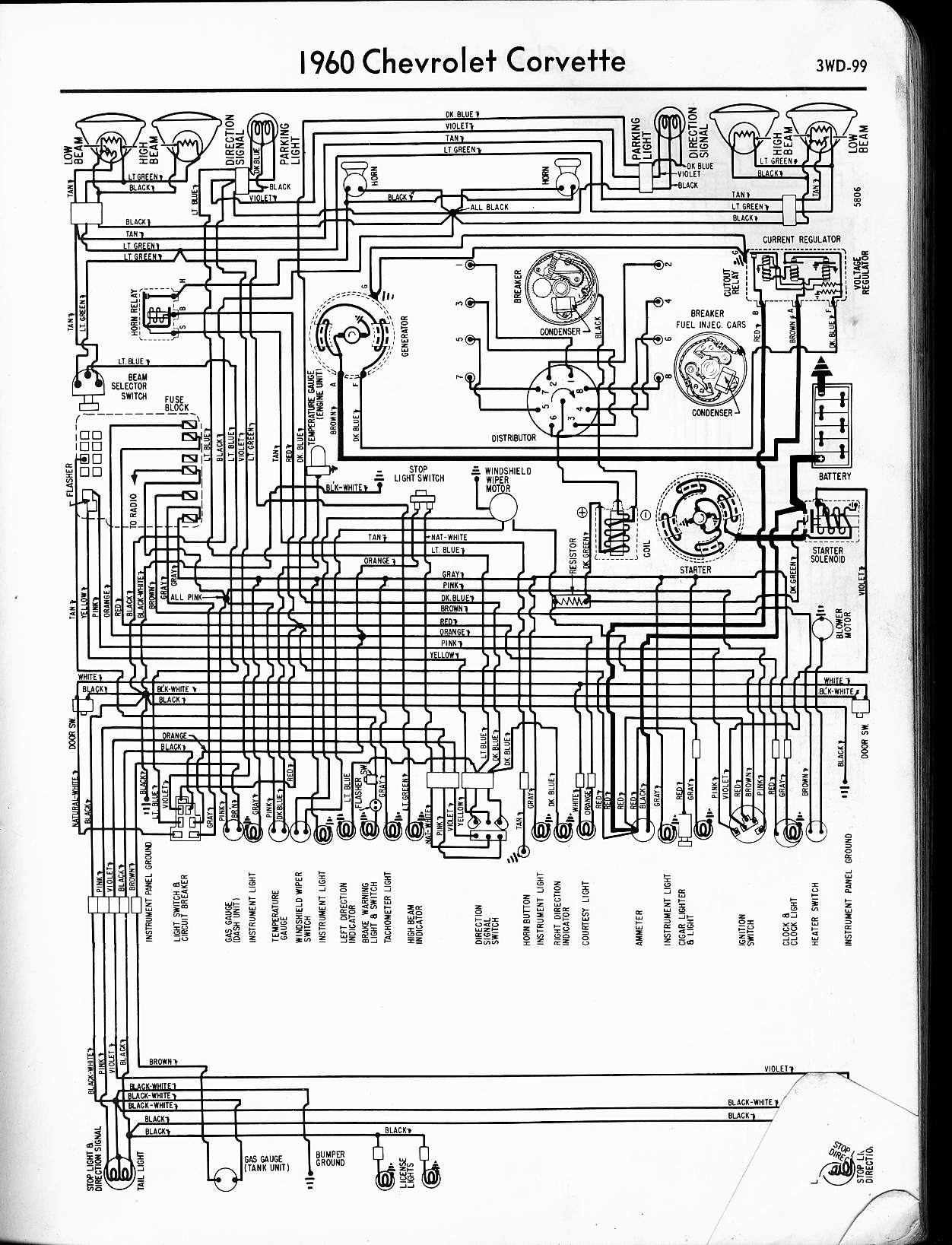 1960 corvette 57 - 65 chevy wiring diagrams
