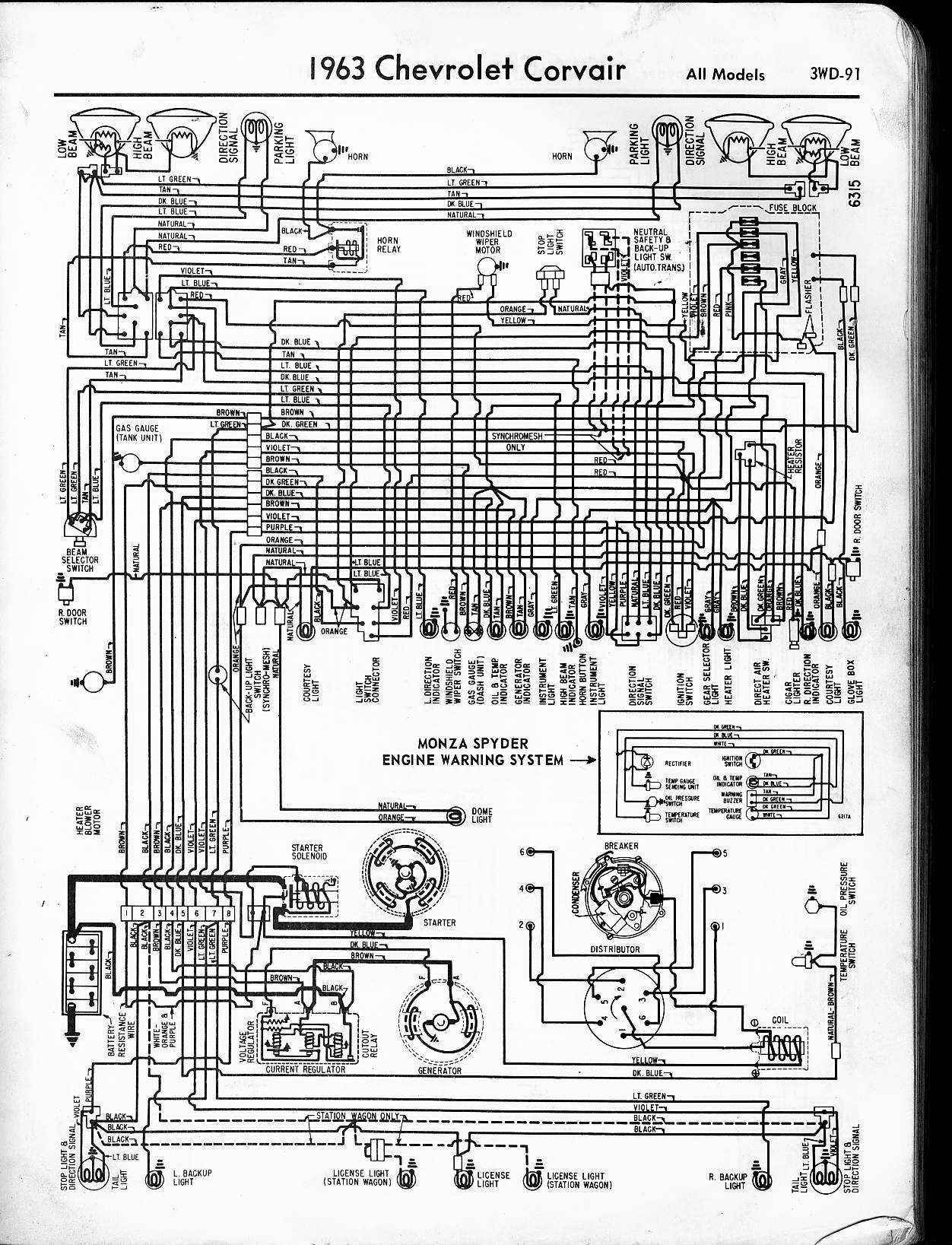 57 65 chevy wiring diagrams rh oldcarmanualproject com 1963 corvette radio wiring diagram 1963 corvette wiper wiring diagram