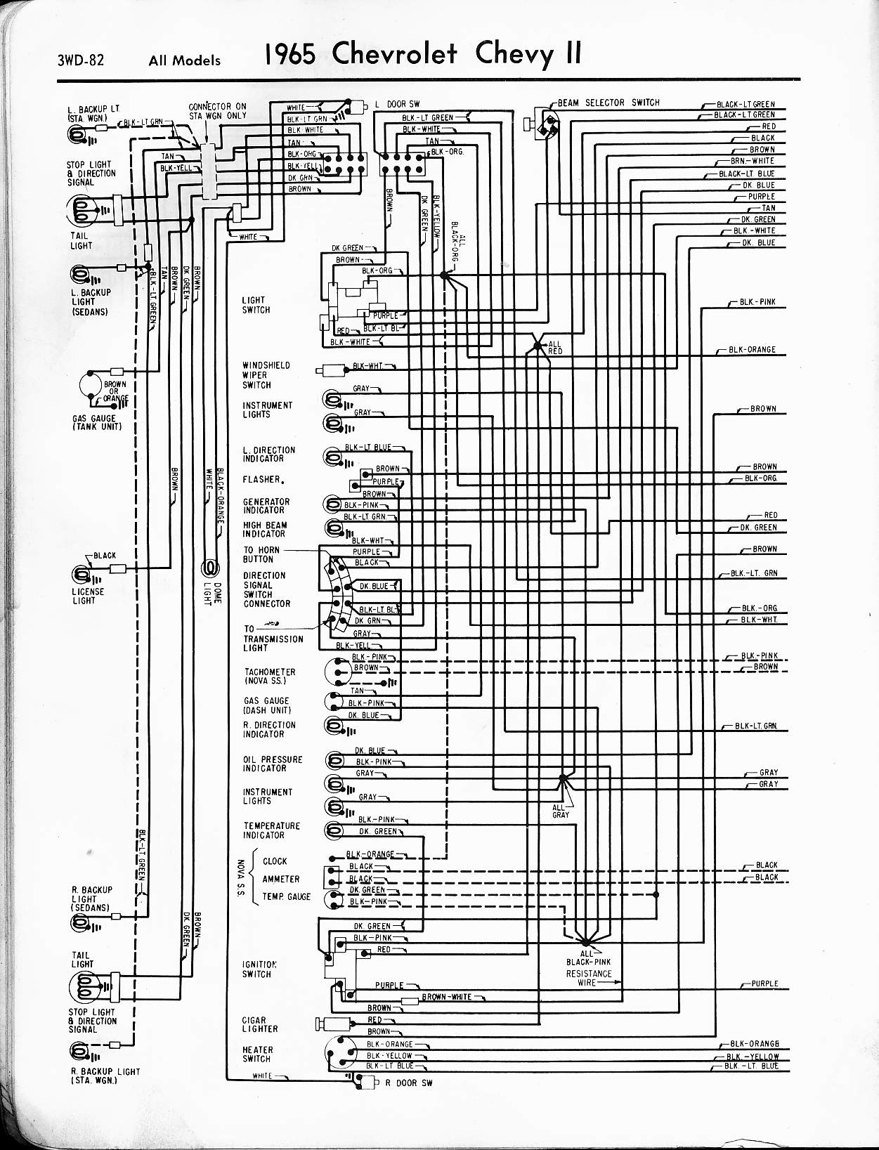 MWireChev65_3WD 082 chevy wiring diagrams chevy radio wiring \u2022 wiring diagrams j 1965 corvair wiring diagram at nearapp.co