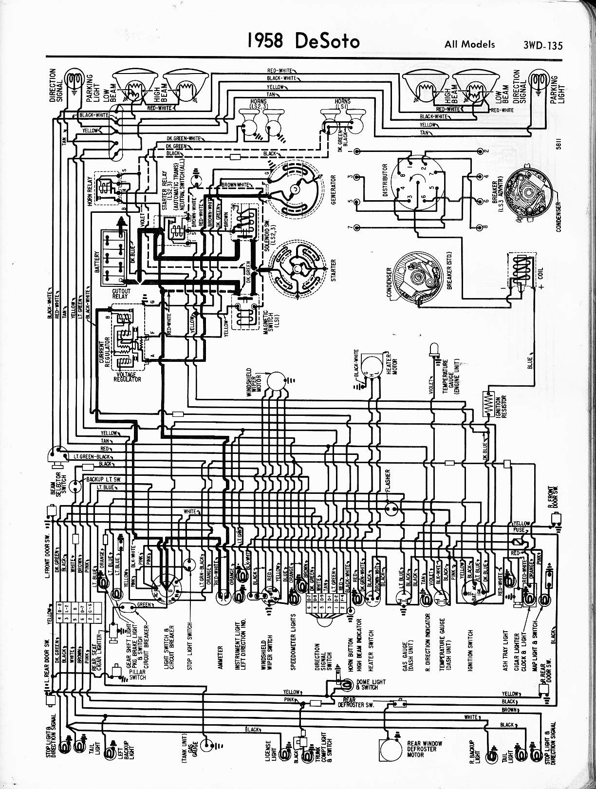 Voltmeter Gauge Wiring Diagram 1957 Chevy Trusted Ammeter 1952 Chevrolet Desoto Gas All Kind Of Diagrams U2022