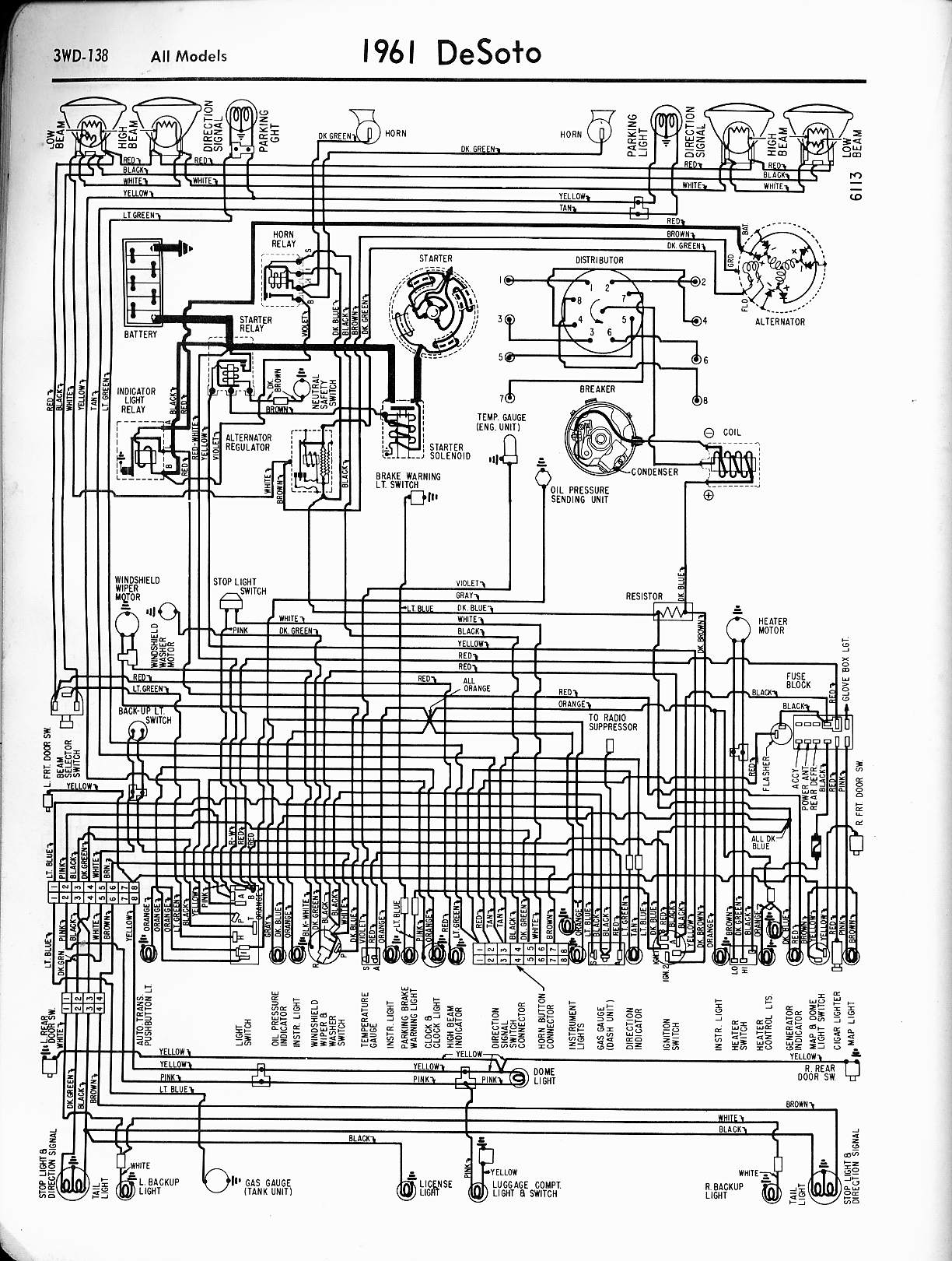 1949 Ford Custom Wiring Diagram Library Light Switch Golf Cart Lights De Soto Diagrams 1957 1965 Rh Oldcarmanualproject Com 1956 Desoto 1951