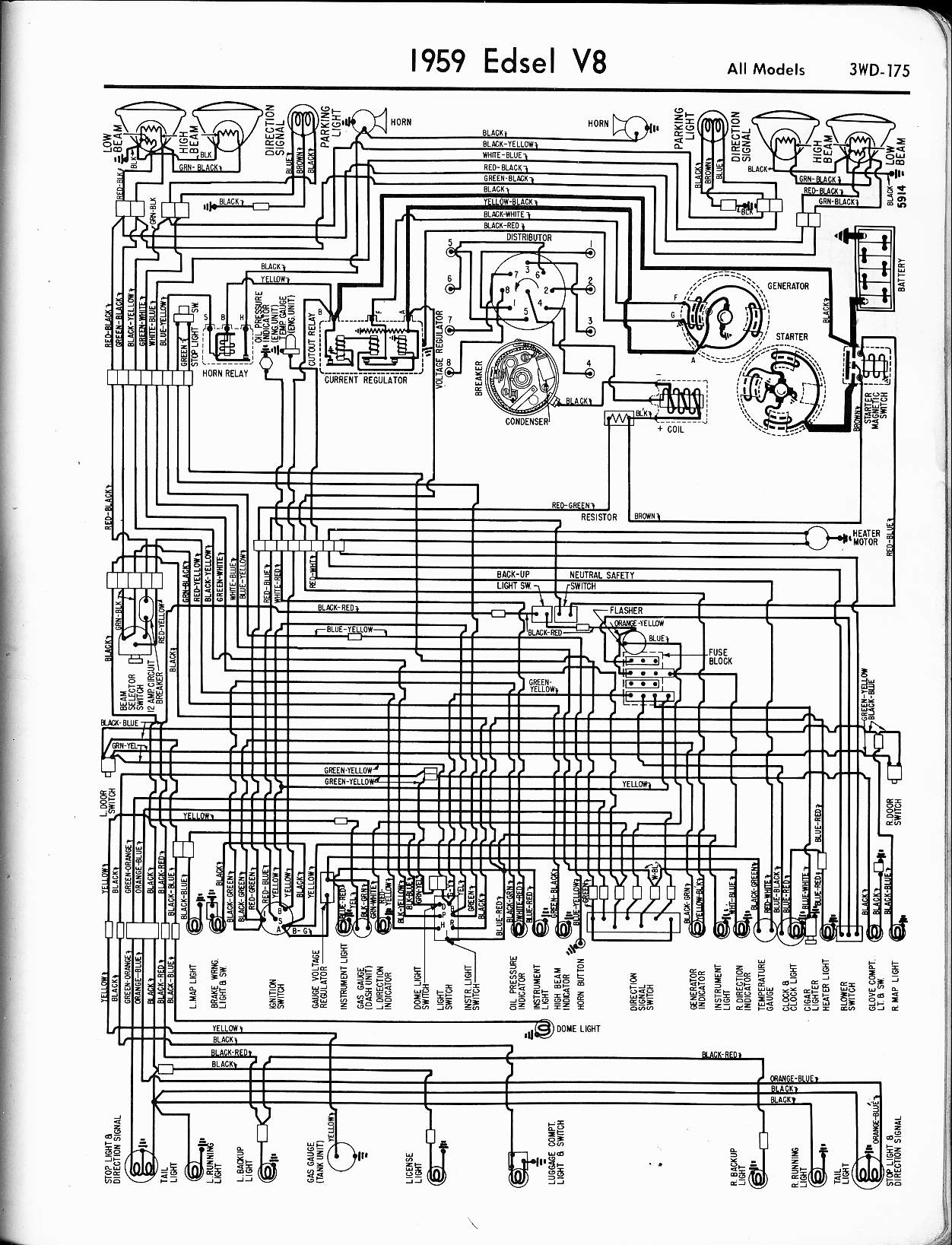 1958 edsel wiring diagram  1958  free engine image for user manual download 1958 Ford Headlight Switch Wiring Diagram 56 Ford Headlight Switch Wiring Diagram