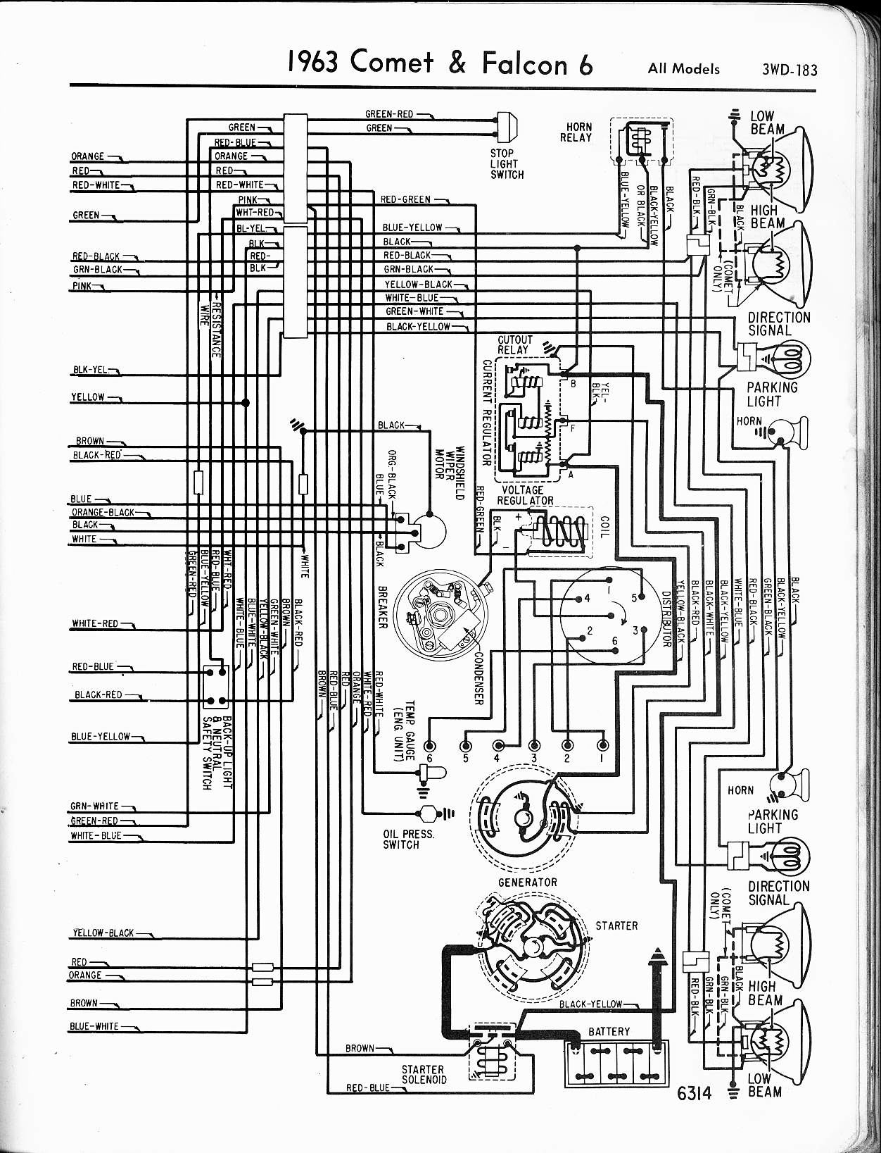 57-65 Ford Wiring Diagrams | Wiring Schematic For 1963 Ford F100 |  | The Old Car Manual Project