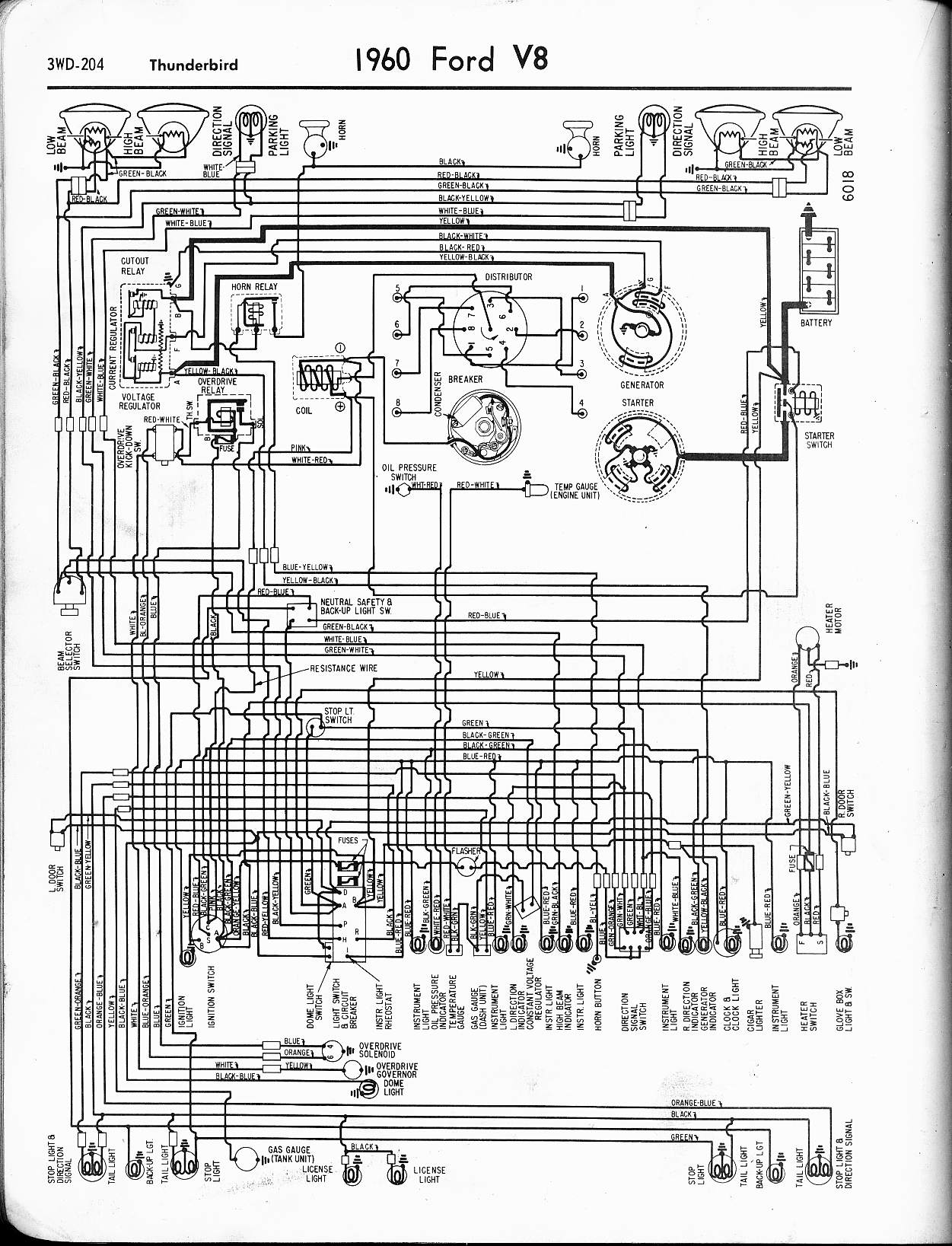 57 65 Ford Wiring Diagrams Basic Ignition Diagram 300 Internation 1960 Thunderbird
