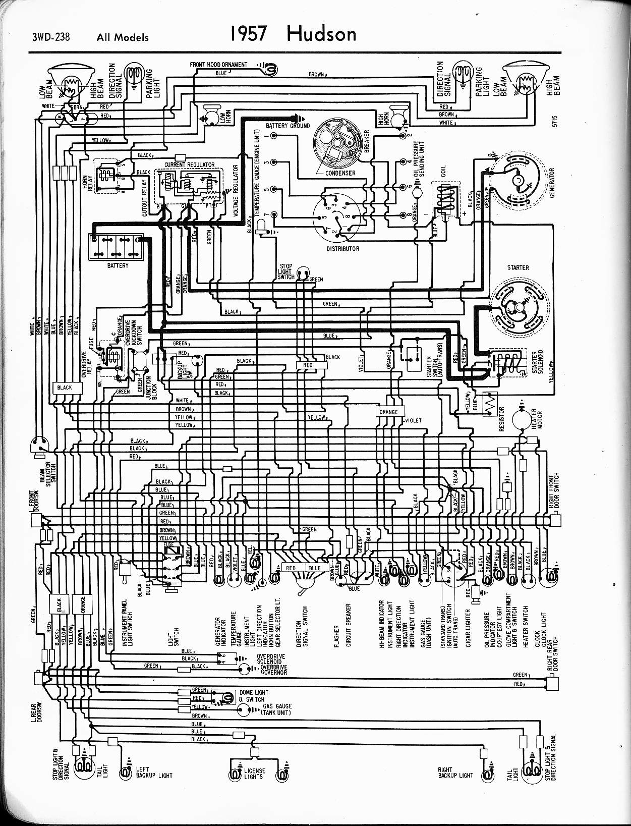 1957 Hudson wiring diagram