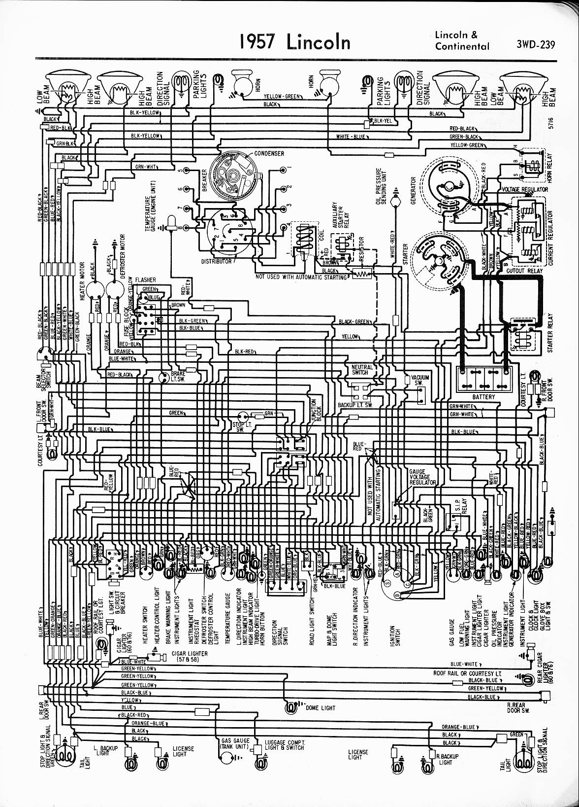MWireLin_Lin57_z3wd 239z_001 lincoln wiring diagrams 1957 1965 Chevy Wiring Harness Diagram at bayanpartner.co