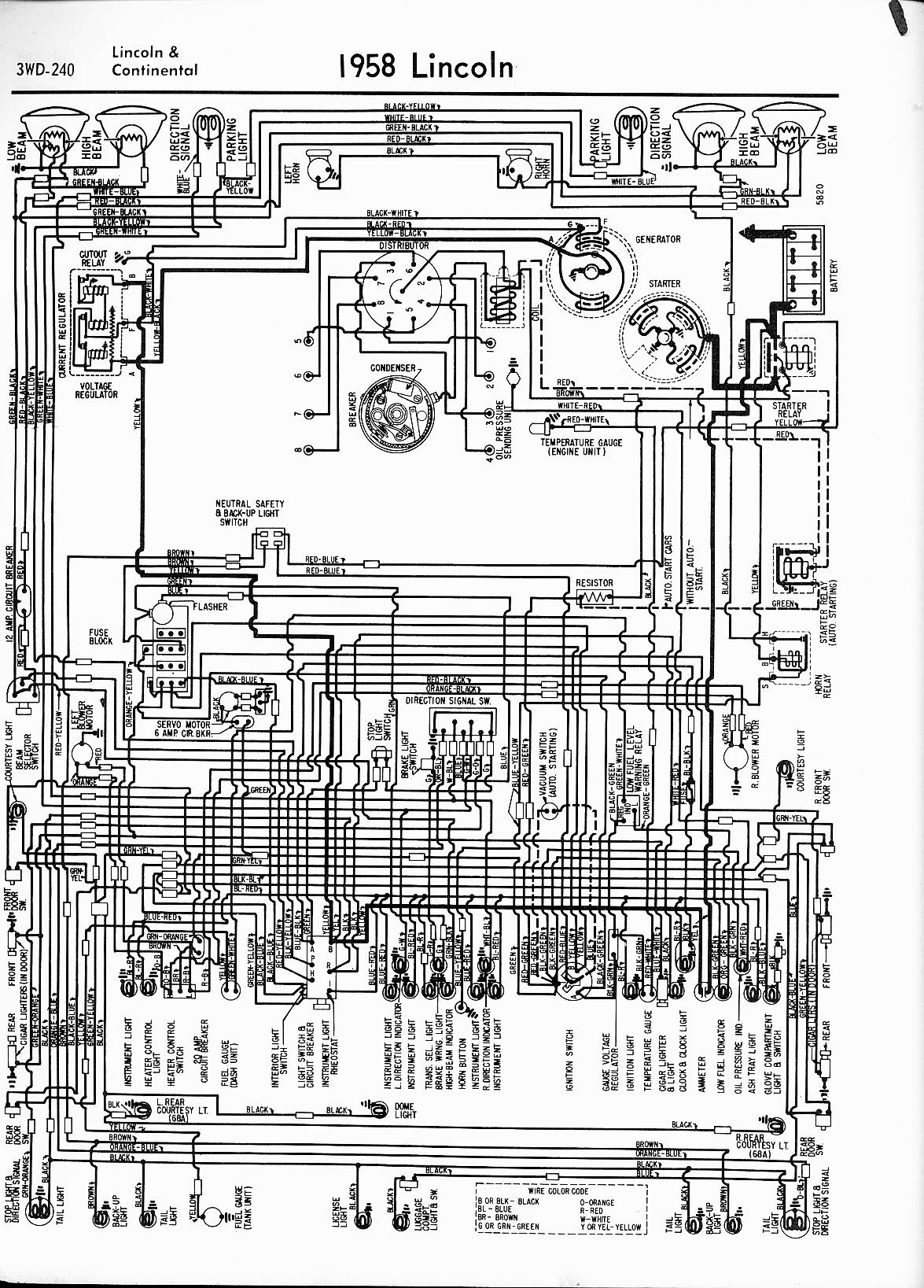 57 lincoln premiere wiring diagram lincoln wiring diagrams: 1957 - 1965 57 chevy generator wiring diagram #2