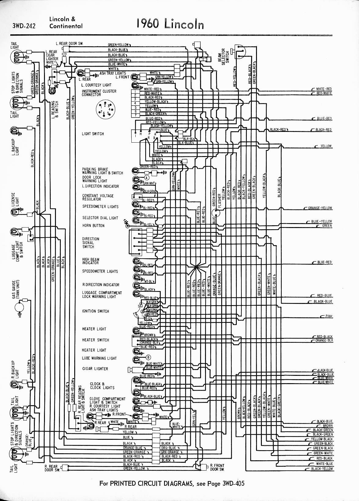 MWireLin_Lin57_z3wd 242z_005 lincoln wiring diagrams 1957 1965 1960 Chevy Wiring Diagram at fashall.co