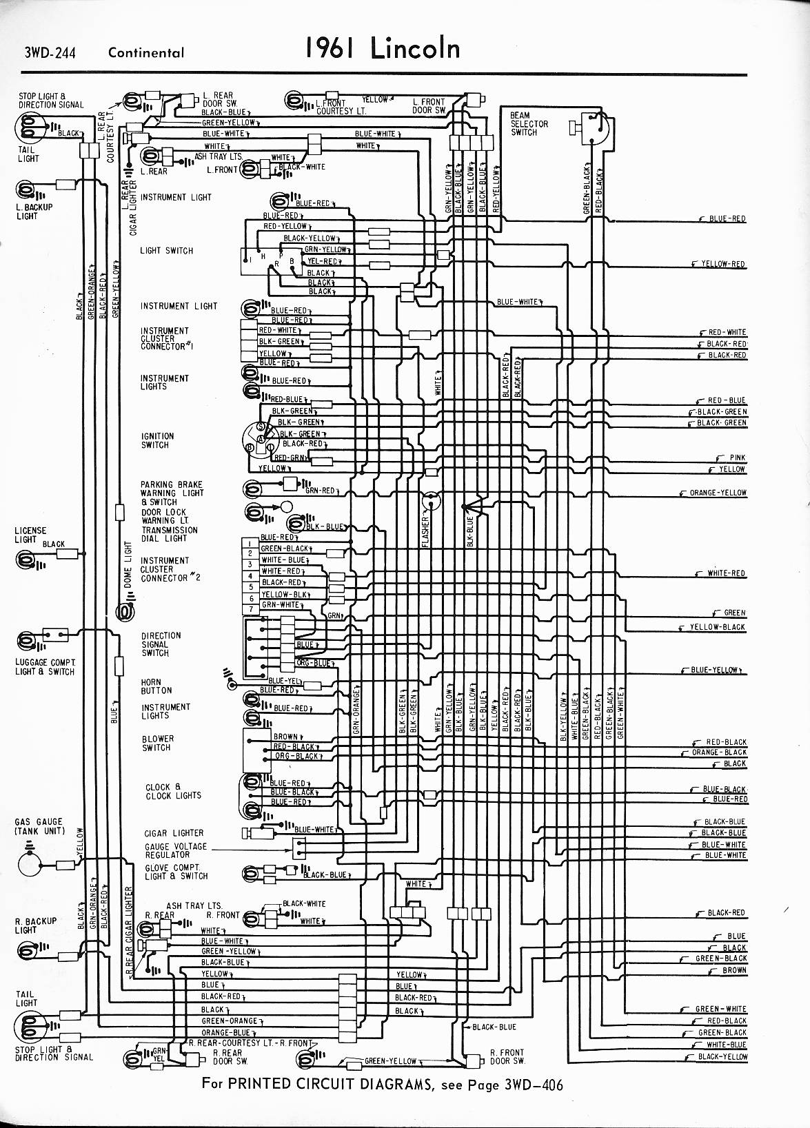 Lincoln Wiring Diagrams: 1957 - 1965The Old Car Manual Project