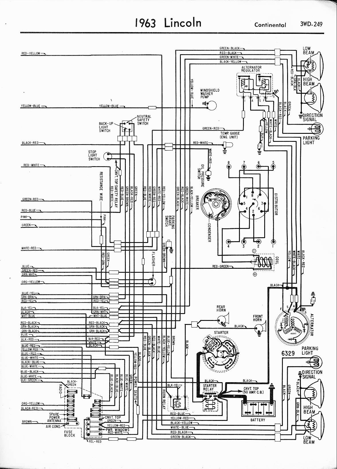 MWireLin_Lin57_z3wd 249z_012 lincoln wiring diagrams 1957 1965