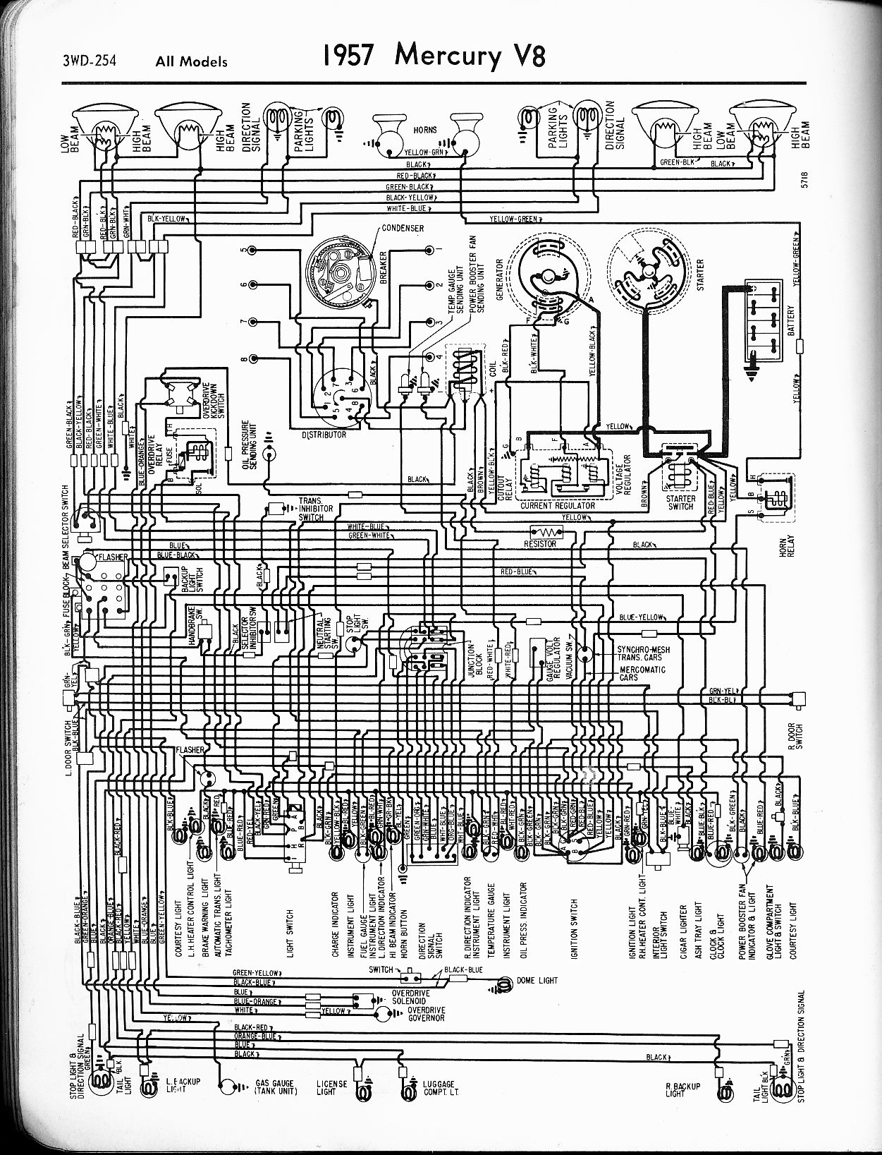 Mercury Start Wiring Diagram : Mercury wiring diagrams the old car manual project