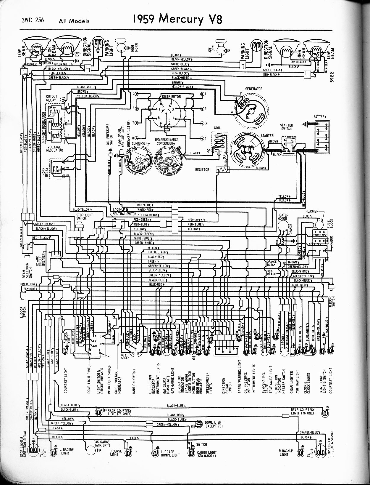 mercury wiring diagrams the car manual project