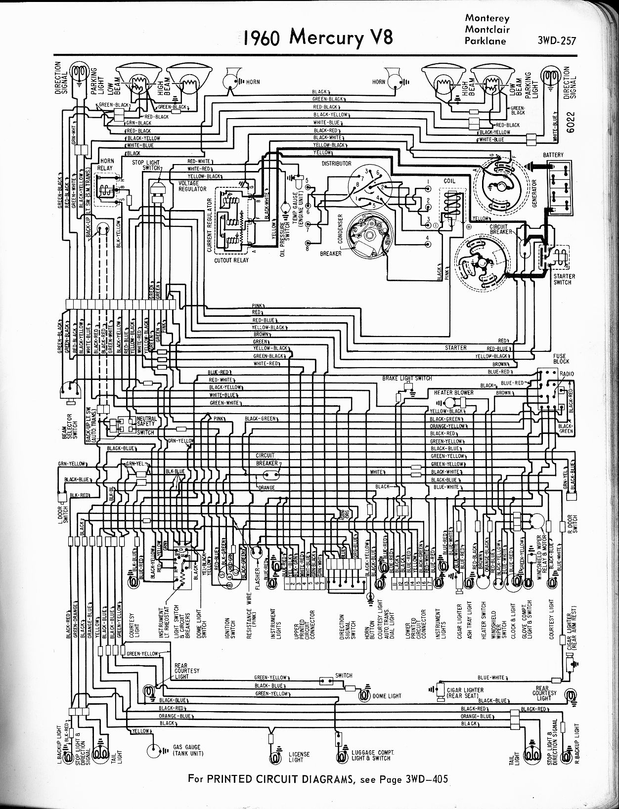 mercury wiring diagrams the old car manual project mercury wiring diagrams 1957 · 1958 · 1959 · 1960 monterey montclair parklane