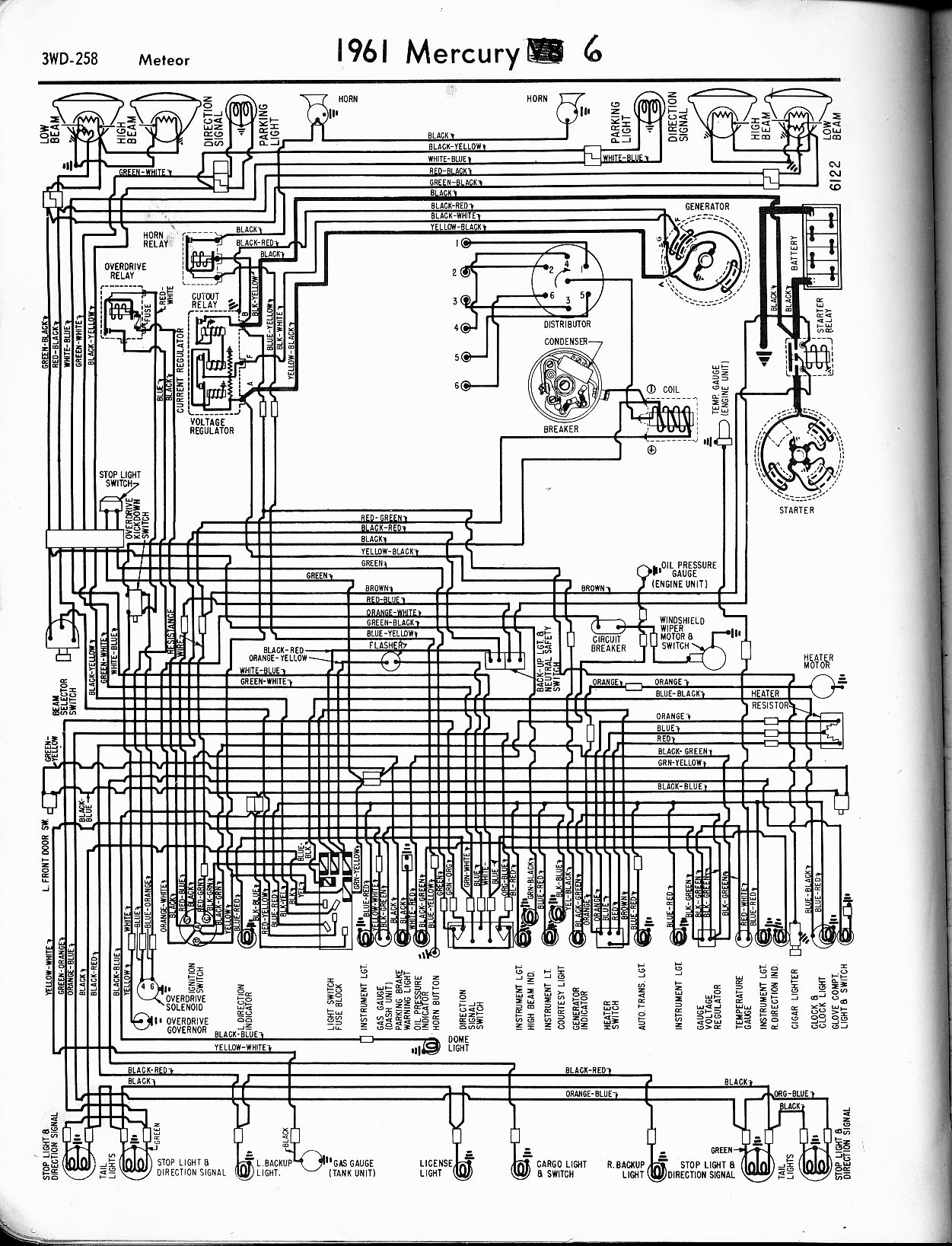 Mercury Wiring Diagrams The Old Car Manual Project Mercury Outboard Wiring  Color Code 56 Mercury Wiring Diagram