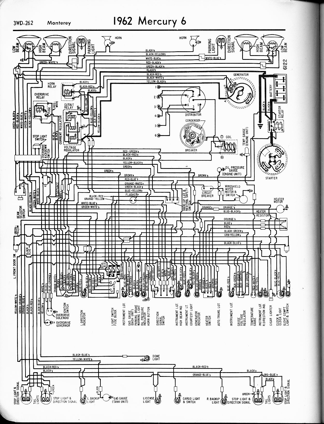 mercury wiring diagrams the old car manual project rh oldcarmanualproject com 2006 Mercury Milan Engine Diagram Mercury Outboard Engine Parts Diagram