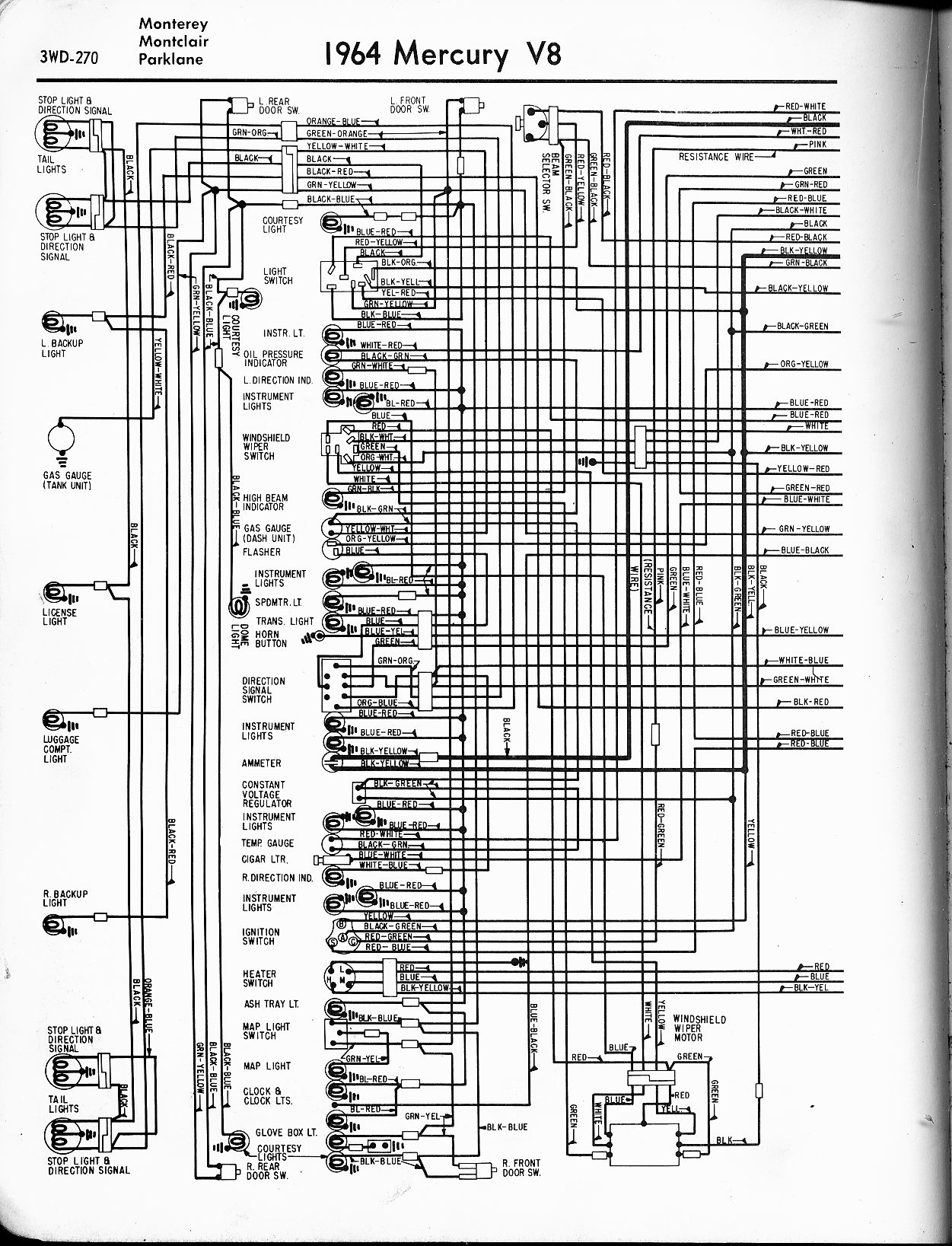 Wiring Diagram 1970 Pontiac Lemans Library 1965 1966 Mercury U2022 For Free Le Mans 1972