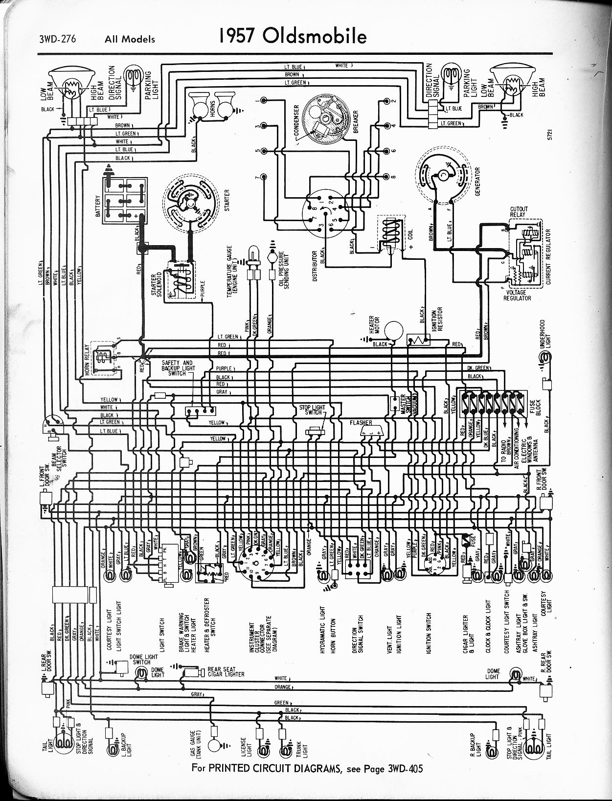 oldsmobile wiring diagrams - the old car manual project 1994 oldsmobile 98 wiring diagram