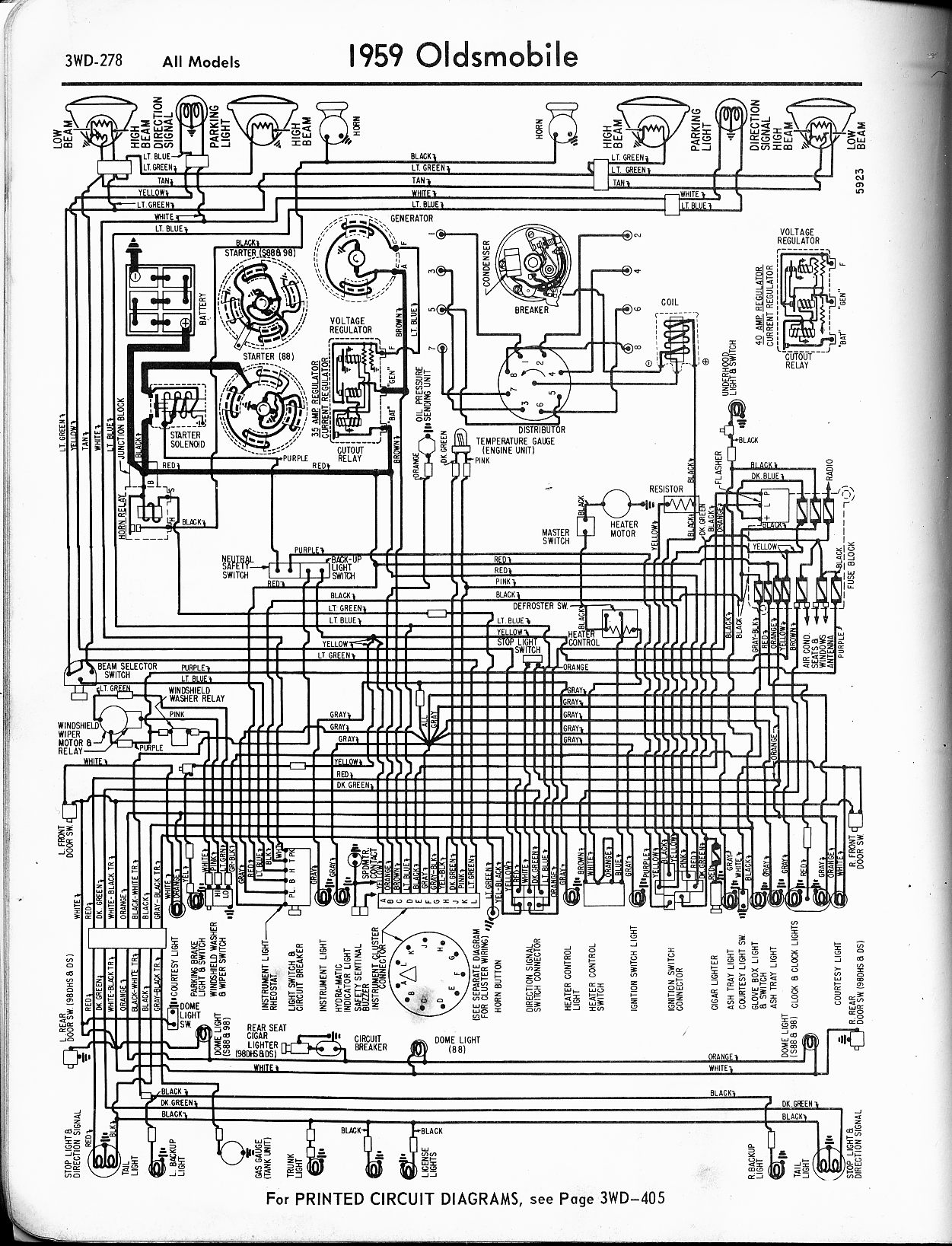oldsmobile wiring diagrams the old car manual project rh oldcarmanualproject com 94 Cutlass Supreme Hood Release Cable 94 Cutlass Supreme Hood Mechanism