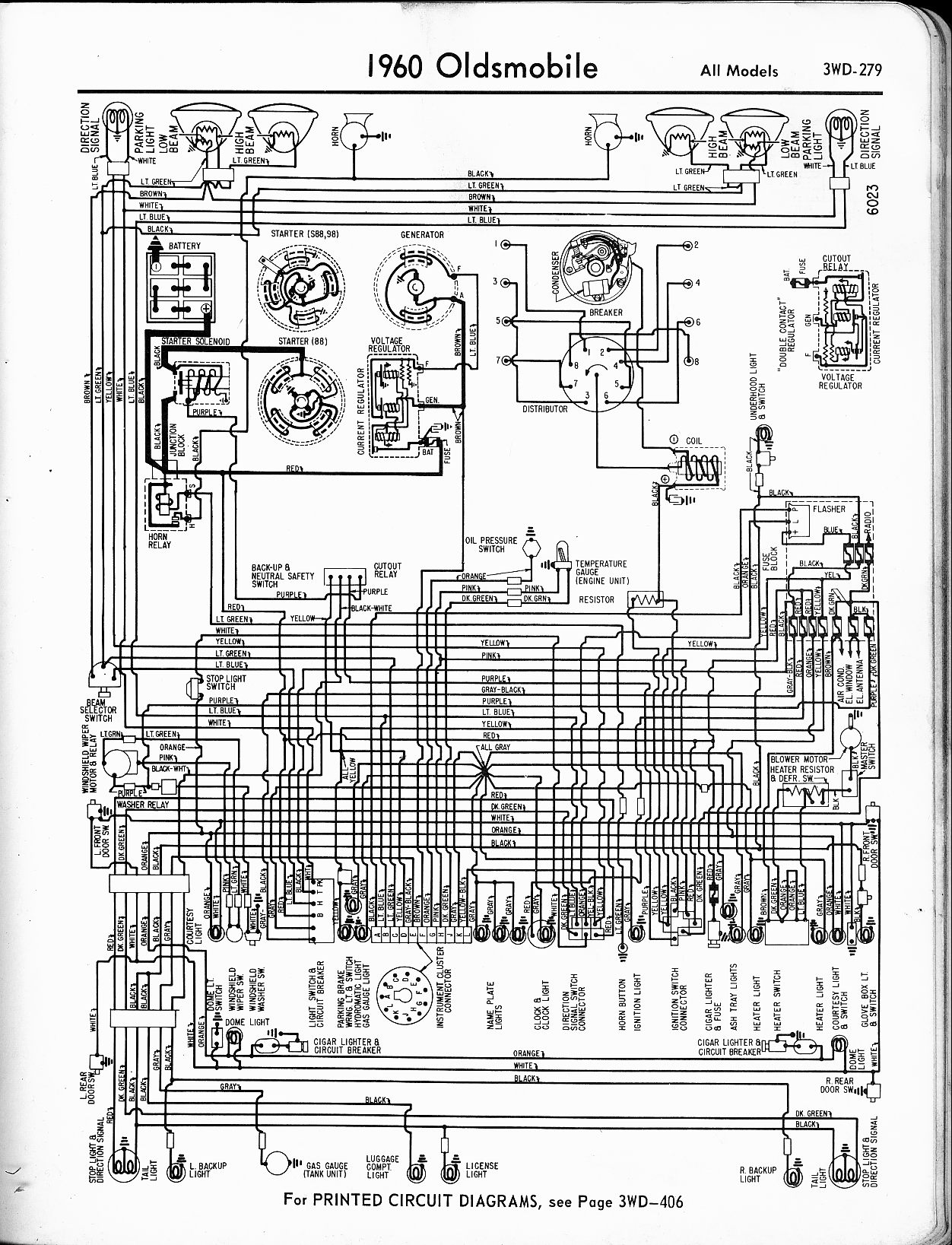 1950 oldsmobile 98 wiring diagrams oldsmobile wiring diagrams - the old car manual project 1989 oldsmobile 98 wiring diagram #12