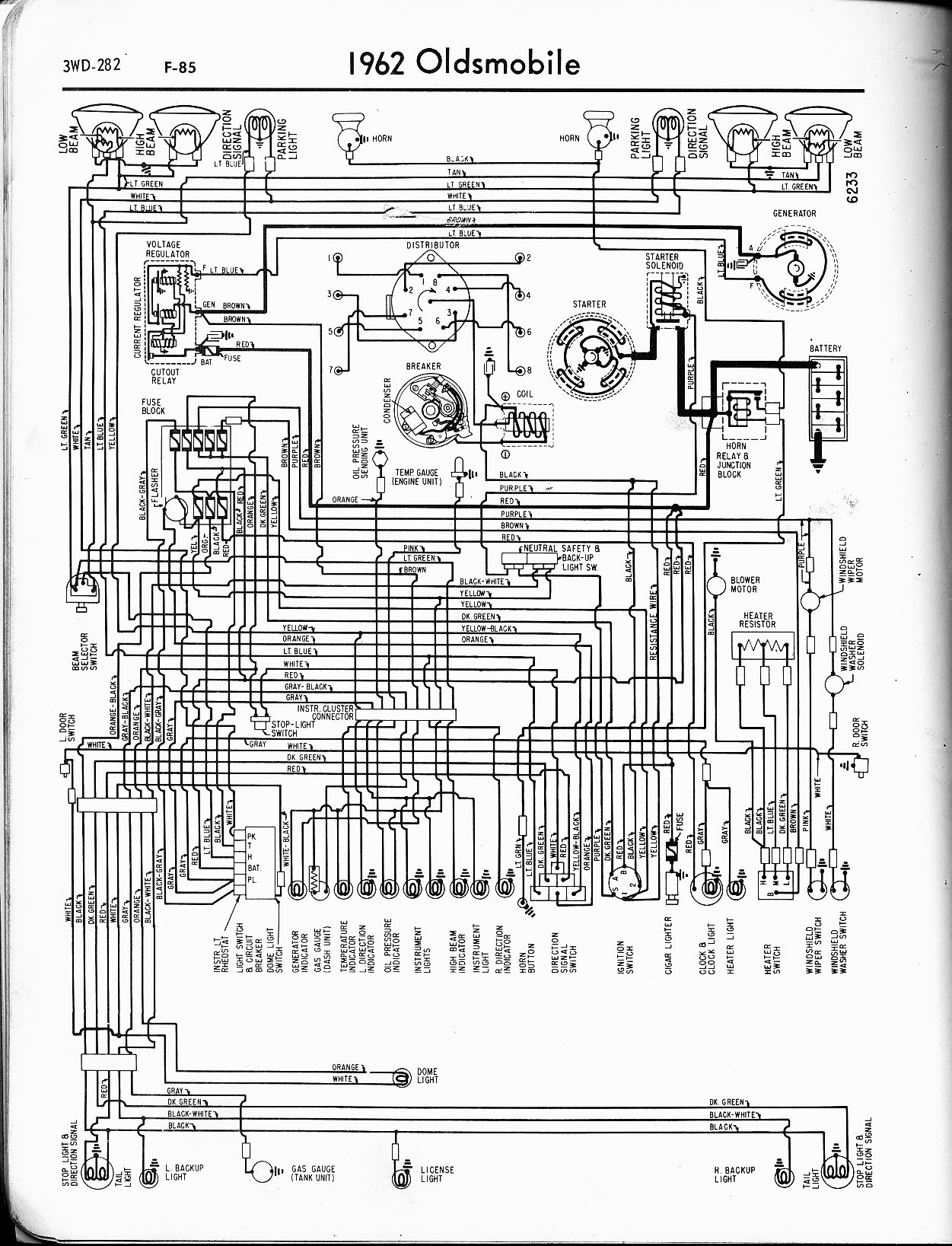 oldsmobile wiring diagrams the old car manual project Honda Wiring Diagrams MWire5765 282