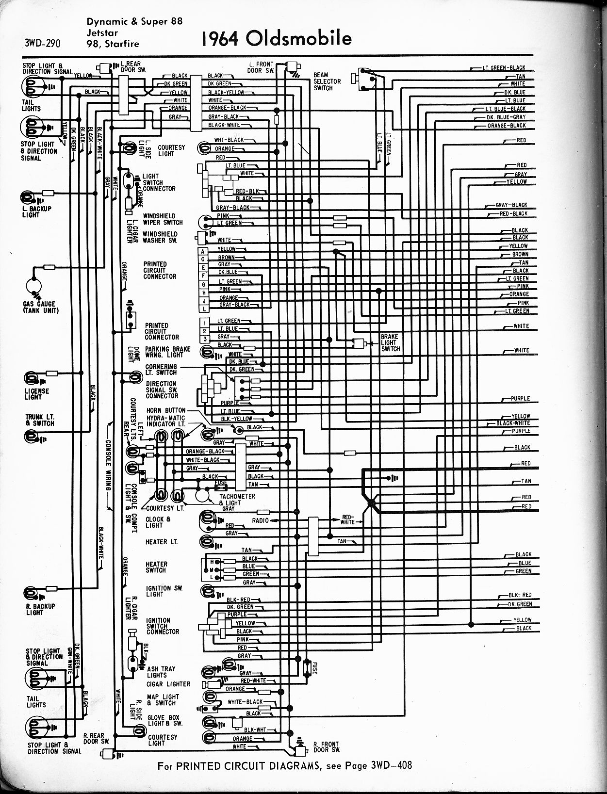 oldsmobile wiring diagrams the old car manual project rh  oldcarmanualproject com 1998 Oldsmobile Cutlass Engine Diagram 2000 Oldsmobile  Silhouette Engine ...