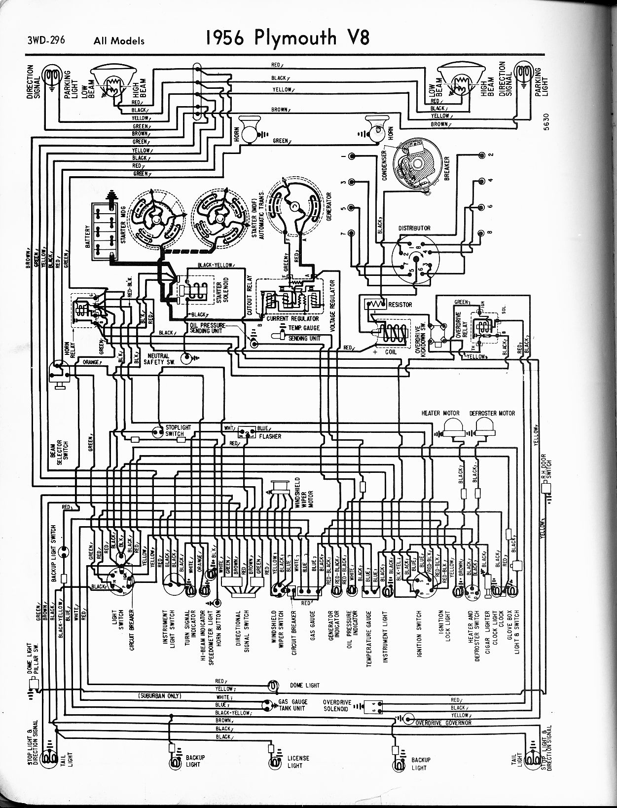 1956 1965 Plymouth Wiring The Old Car Manual Project Chrysler Wiring  Diagrams Plymouth Wiring Diagrams