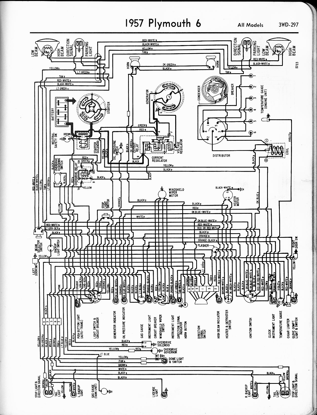 1956 1965 plymouth wiring the old car manual project  electrical diagrams for chrysler, dodge