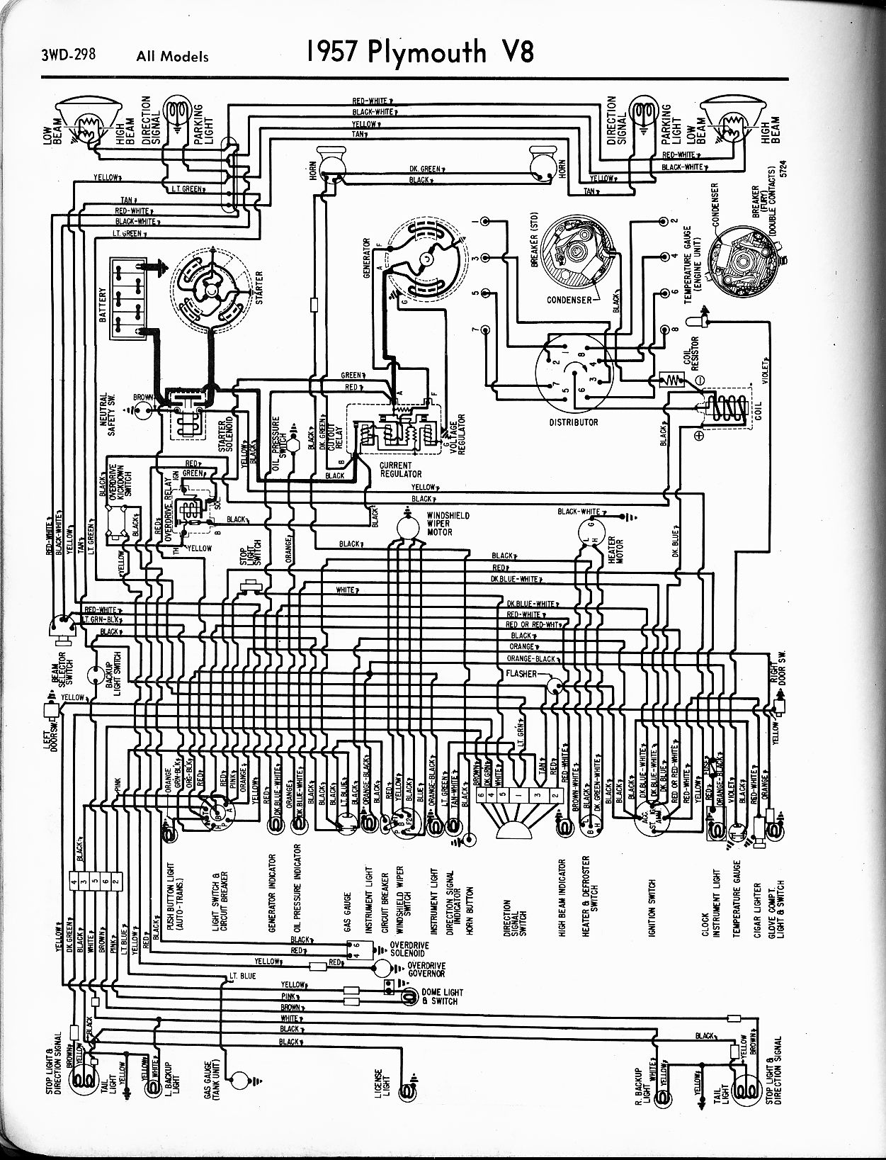 1956 1965 plymouth wiring the old car manual project1958 Plymouth Wiring Diagram #1