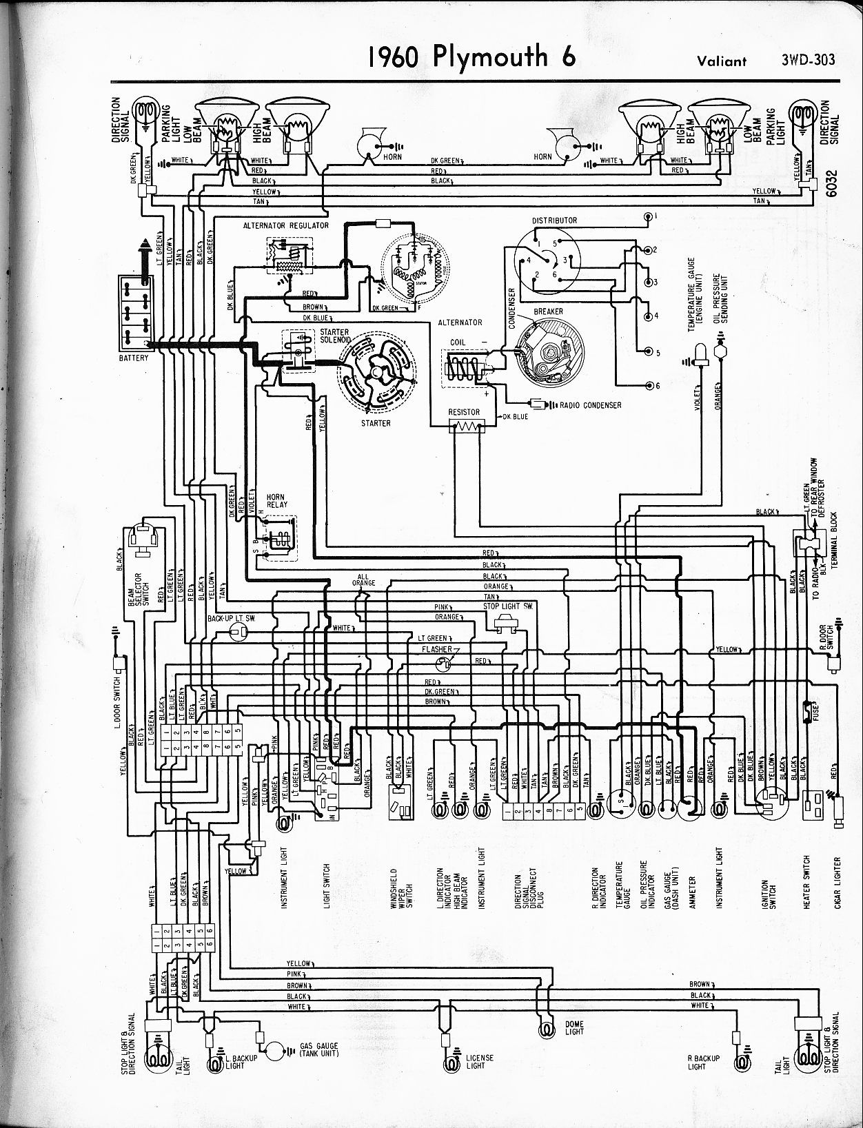 1956 - 1965 Plymouth Wiring - The Old Car Manual Project
