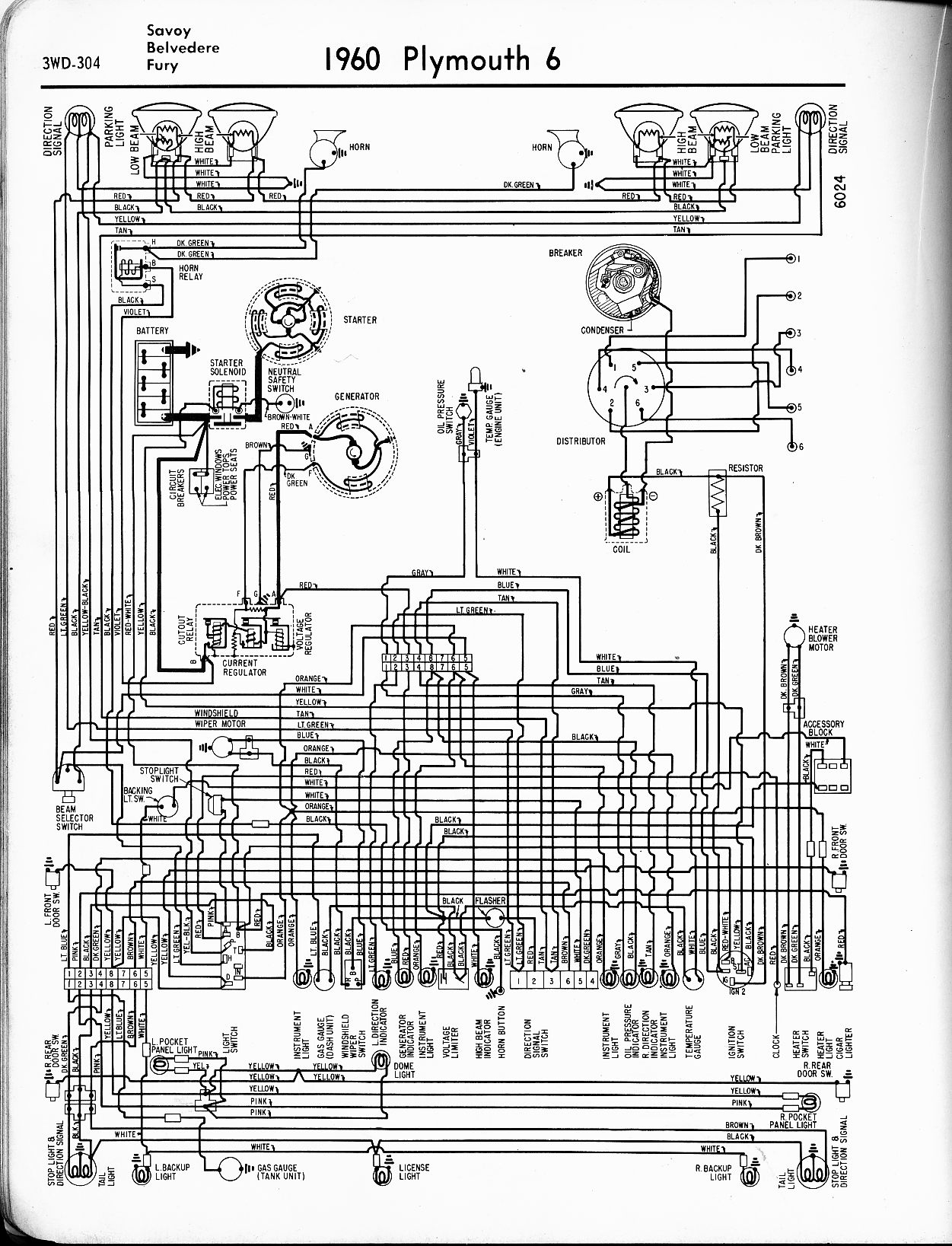 1974 plymouth duster wiring diagram 1956 - 1965 plymouth wiring - the old car manual project