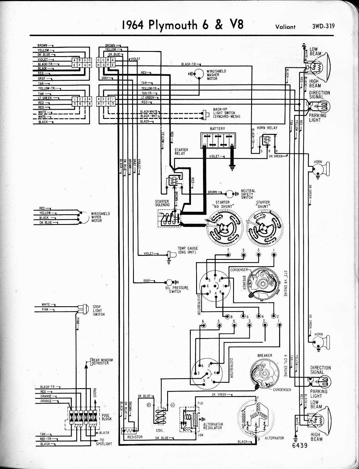 MWire5765 319 1964 plymouth wiring diagram 1964 wiring diagrams instruction 1954 plymouth belvedere wiring diagram at crackthecode.co