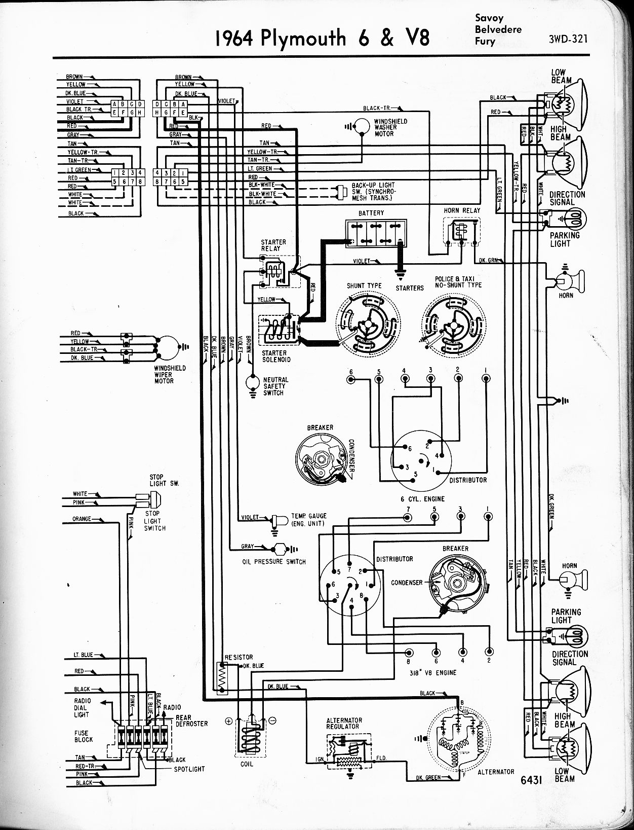 dodge 225 slant six ignition wiring diagram 1964 plymouth valiant wiring  diagram 1963 Plymouth Valiant