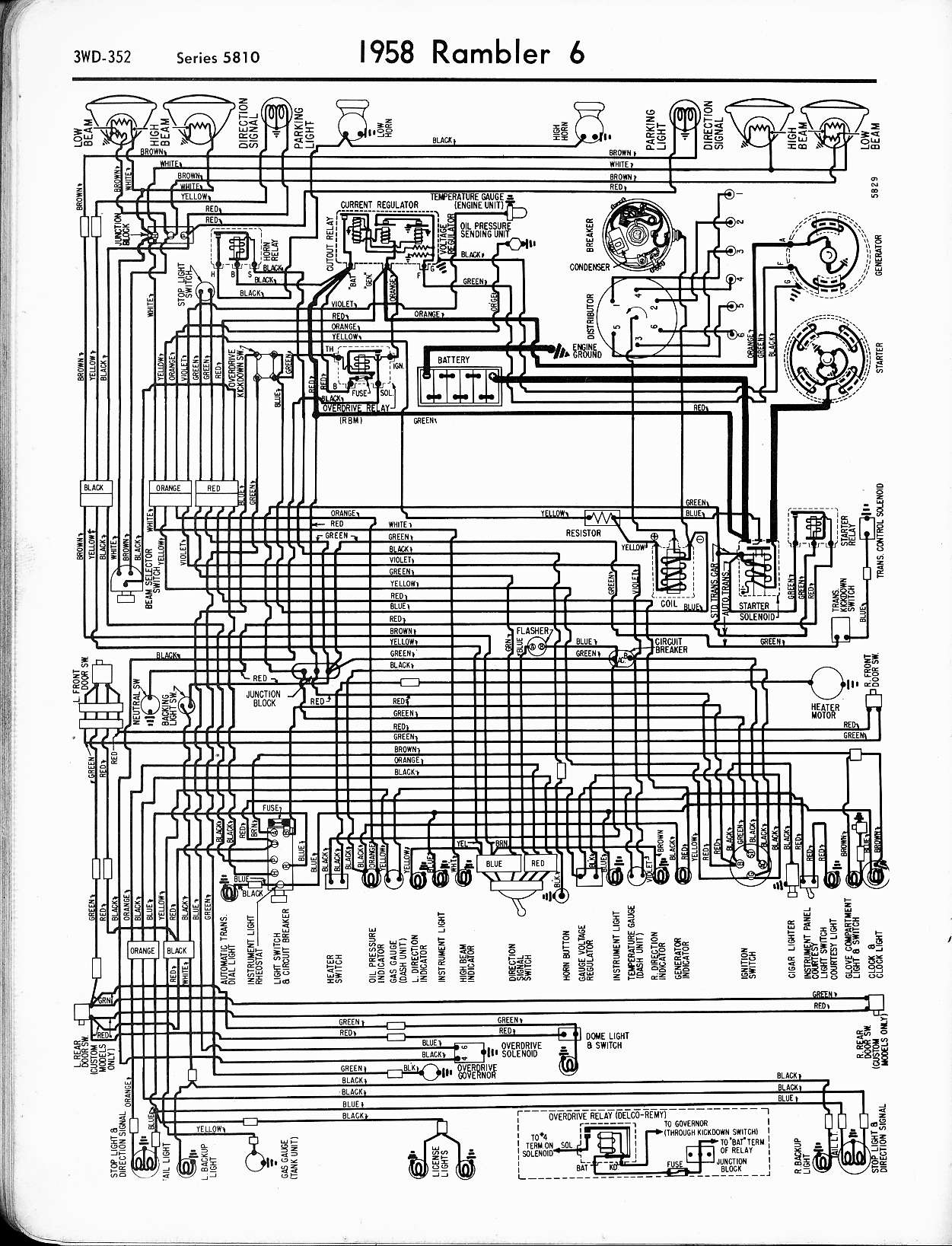 Amcorm besides Amcramblerambassadororm Toc also Wiring Diagrams Of Rambler American Deluxe And Super together with Mwire furthermore Mwire. on 1960 rambler american wiring diagrams