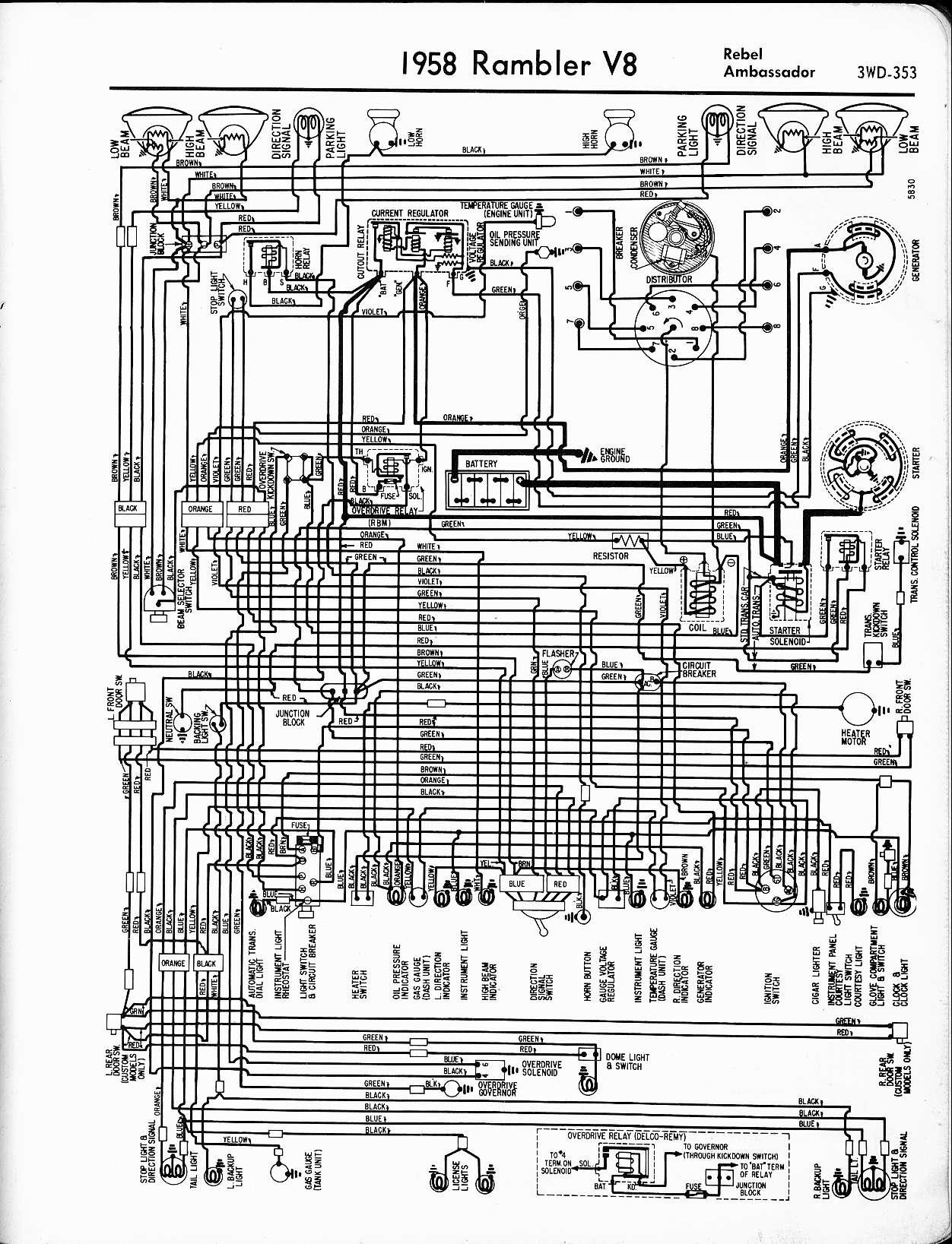 rambler wiring diagrams the old car manual project1958 rambler v8 rebel, ambassador