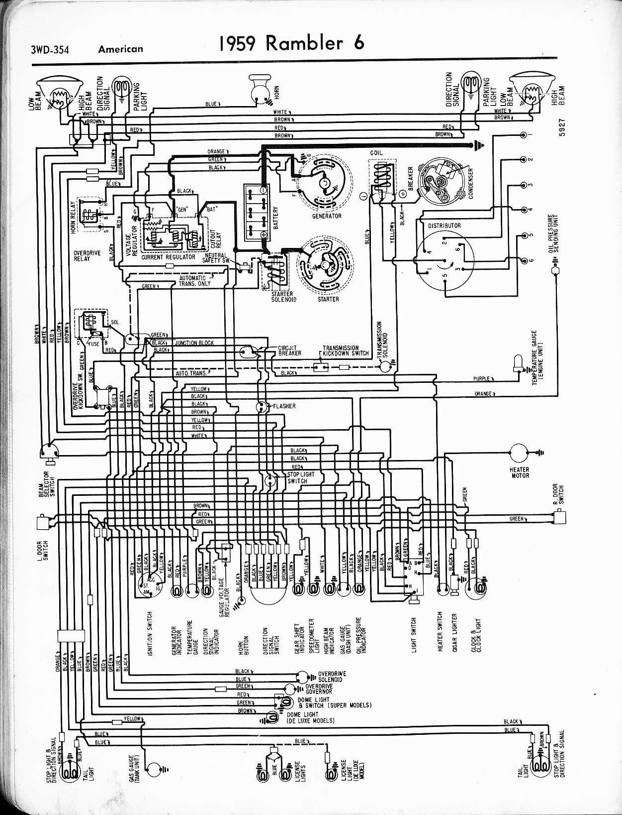 Rambler Wiring Diagrams The Old Car Manual Project Power Wheels Harness Free Download Diagram Schematic 1959 6 American