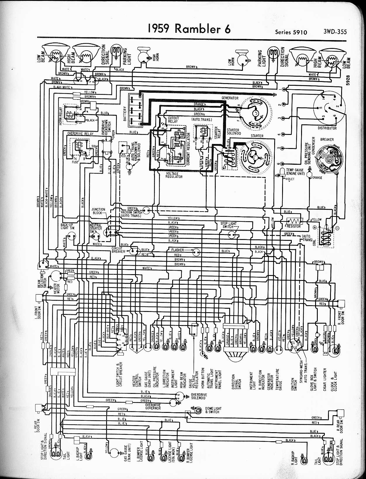 Rambler Wiring Diagrams The Old Car Manual Project 1946 Chevy 1 5 Ton Truck Diagram 1959 6 Series 5910