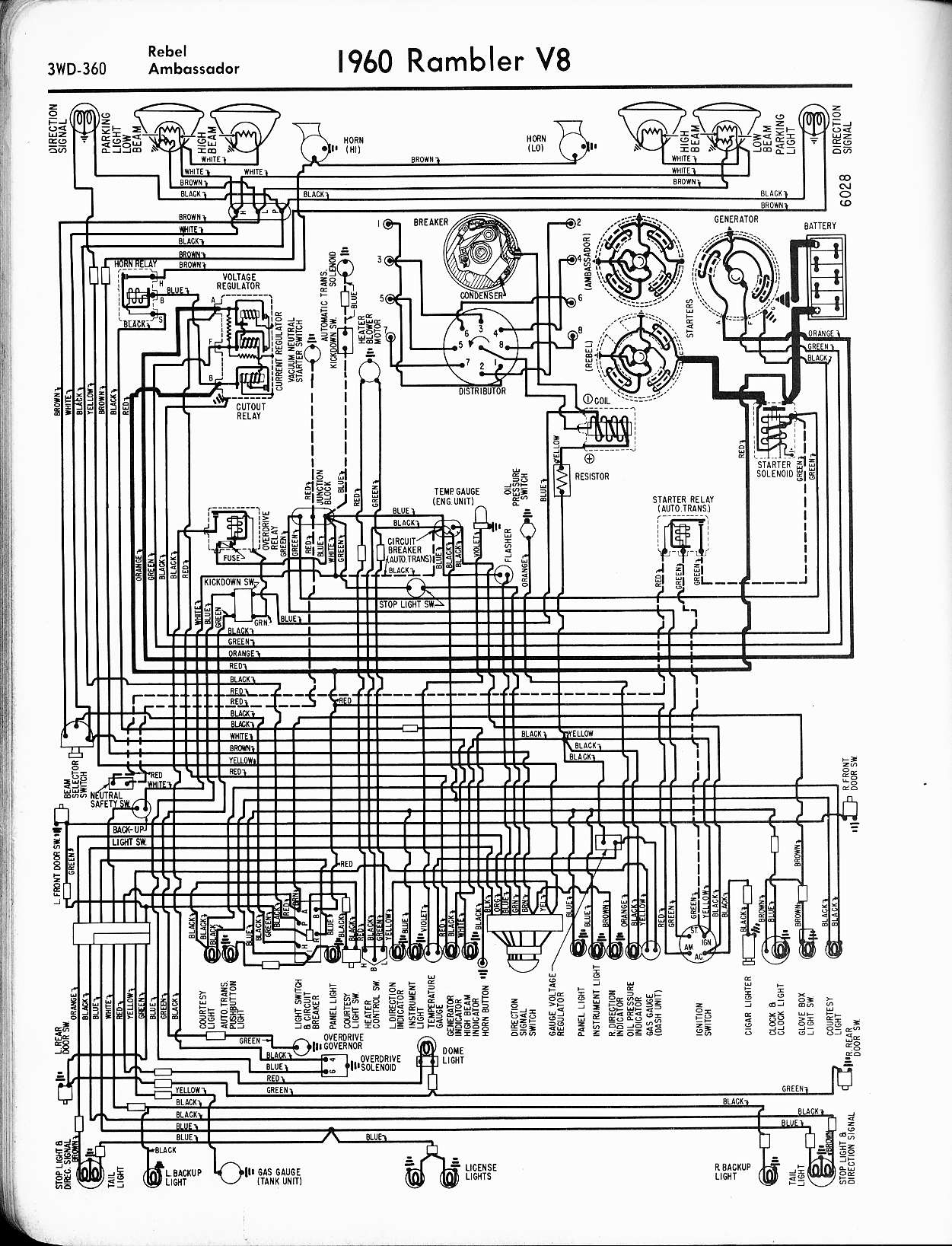 rambler wiring diagrams the old car manual project rh oldcarmanualproject com 1968 AMC Rambler Rebel SST 1967 AMC Rebel