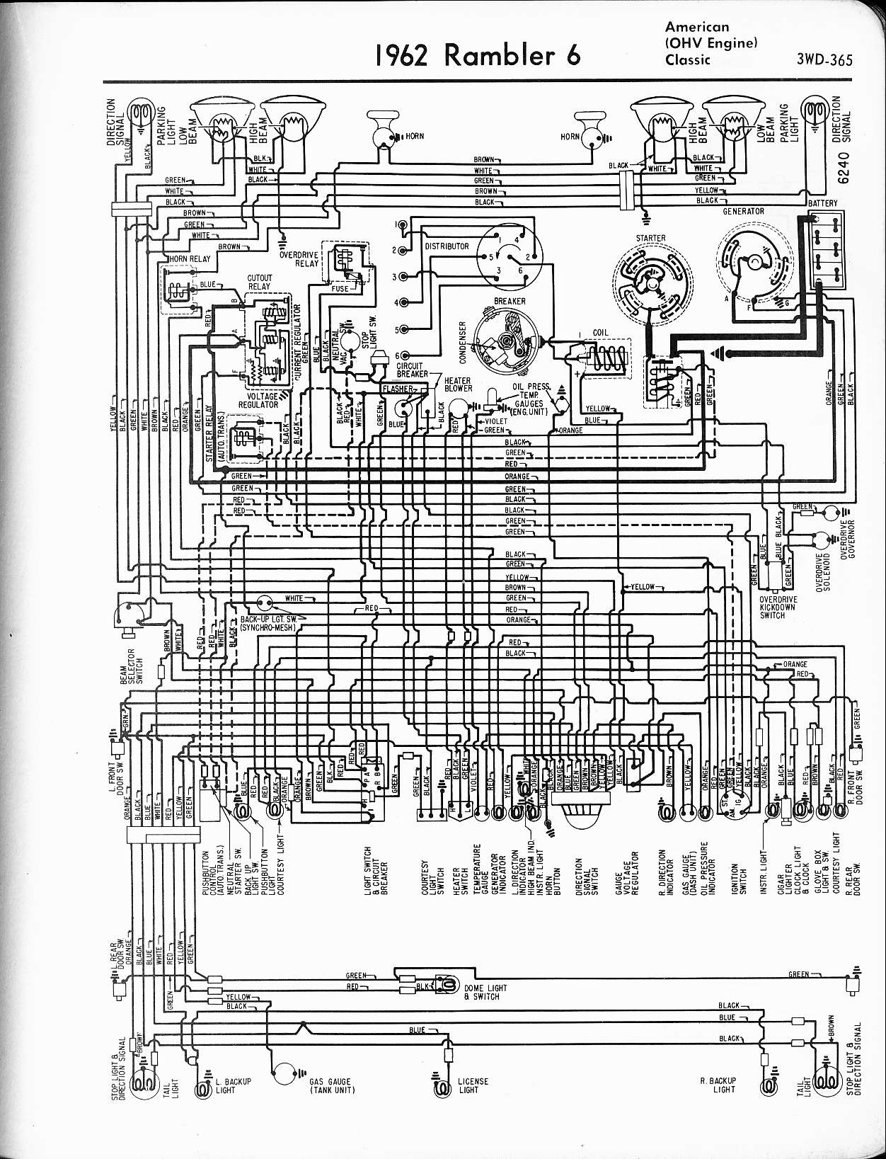 rambler wiring diagrams the old car manual project rh oldcarmanualproject com 1976 AMC 1969 AMC Rebel