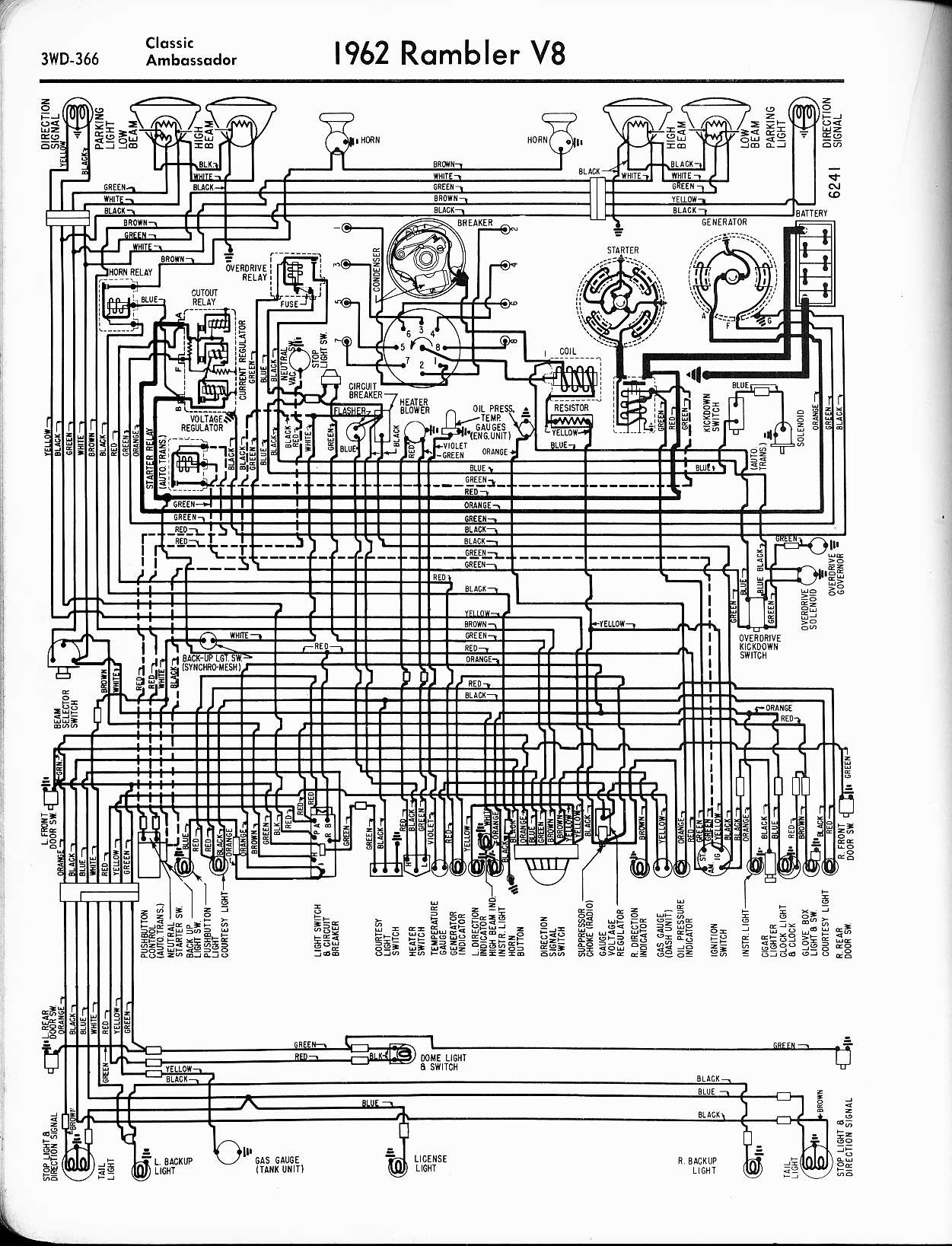 rambler wiring diagrams the old car manual project rh oldcarmanualproject com 1976 AMC 1969 amc javelin wiring diagram