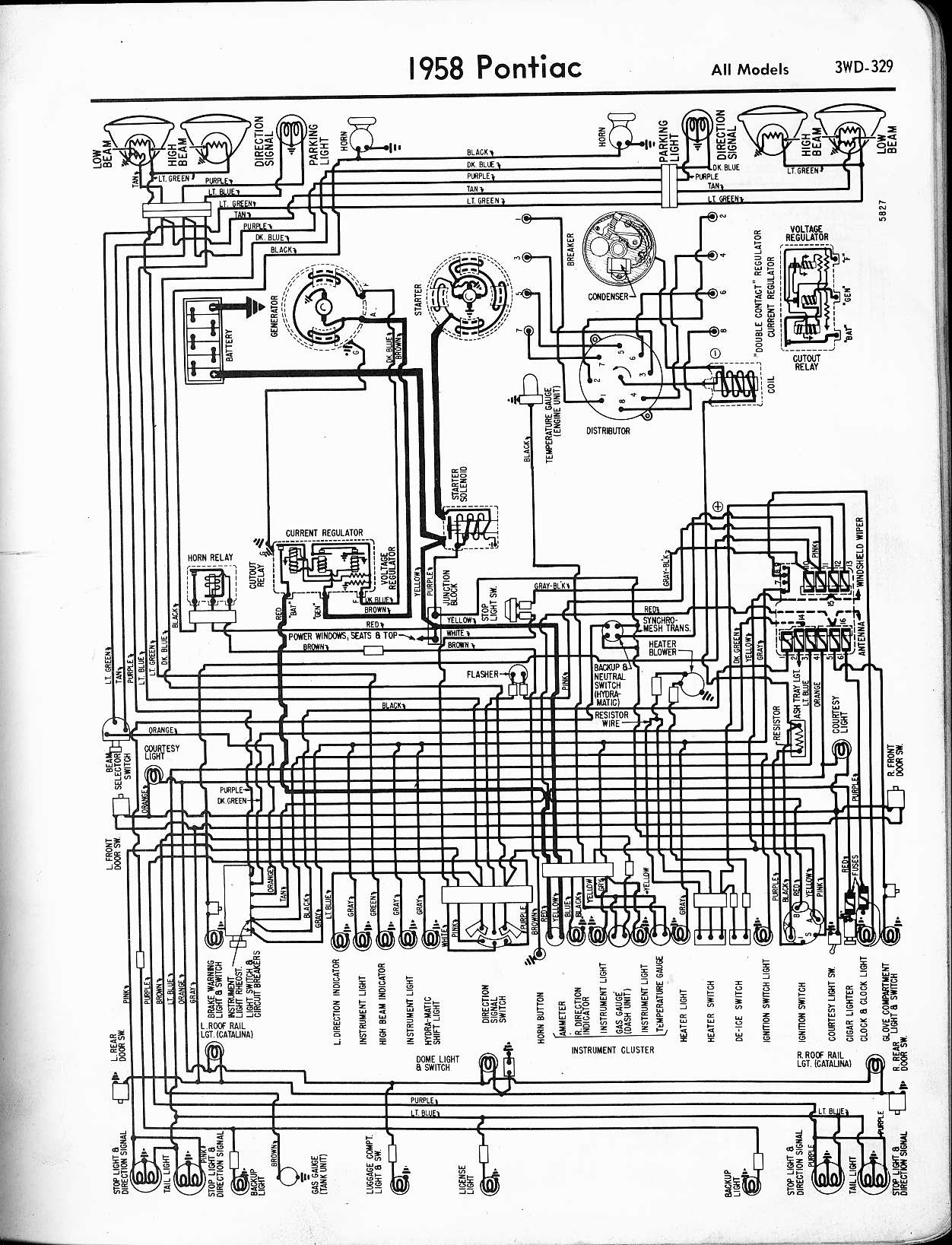 1969 Pontiac Wiring Diagram Change Your Idea With Electrical For 1960 Chevrolet Corvair All Models 1957 1965 Rh Oldcarmanualproject Com Grand Prix Firebird