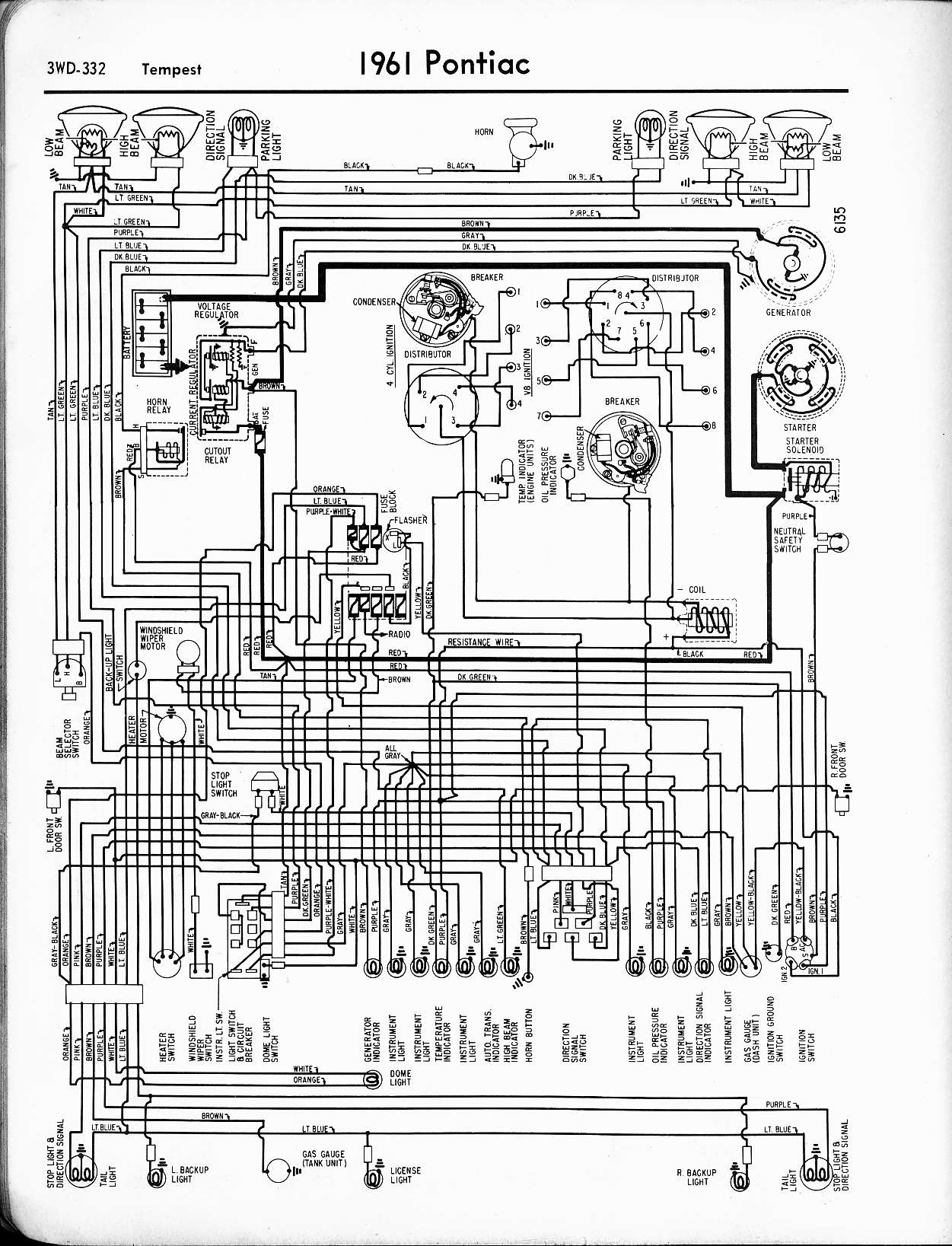 Pontiac Wiring Schematic Completed Diagrams Sunfire 1957 1965