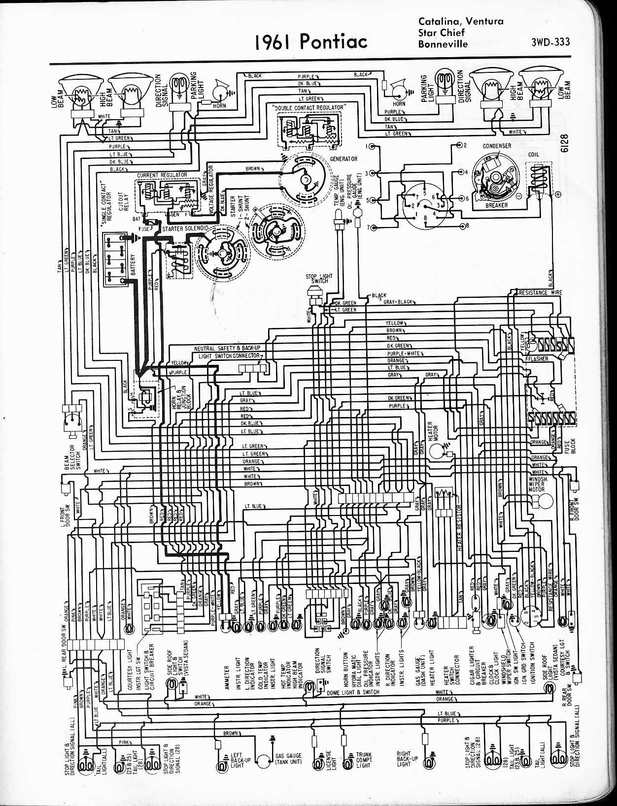 Chieftain Wiring Diagrams Schema 1987 Winnebago Diagram Pontiac 1957 1965 A 400 Amp Service