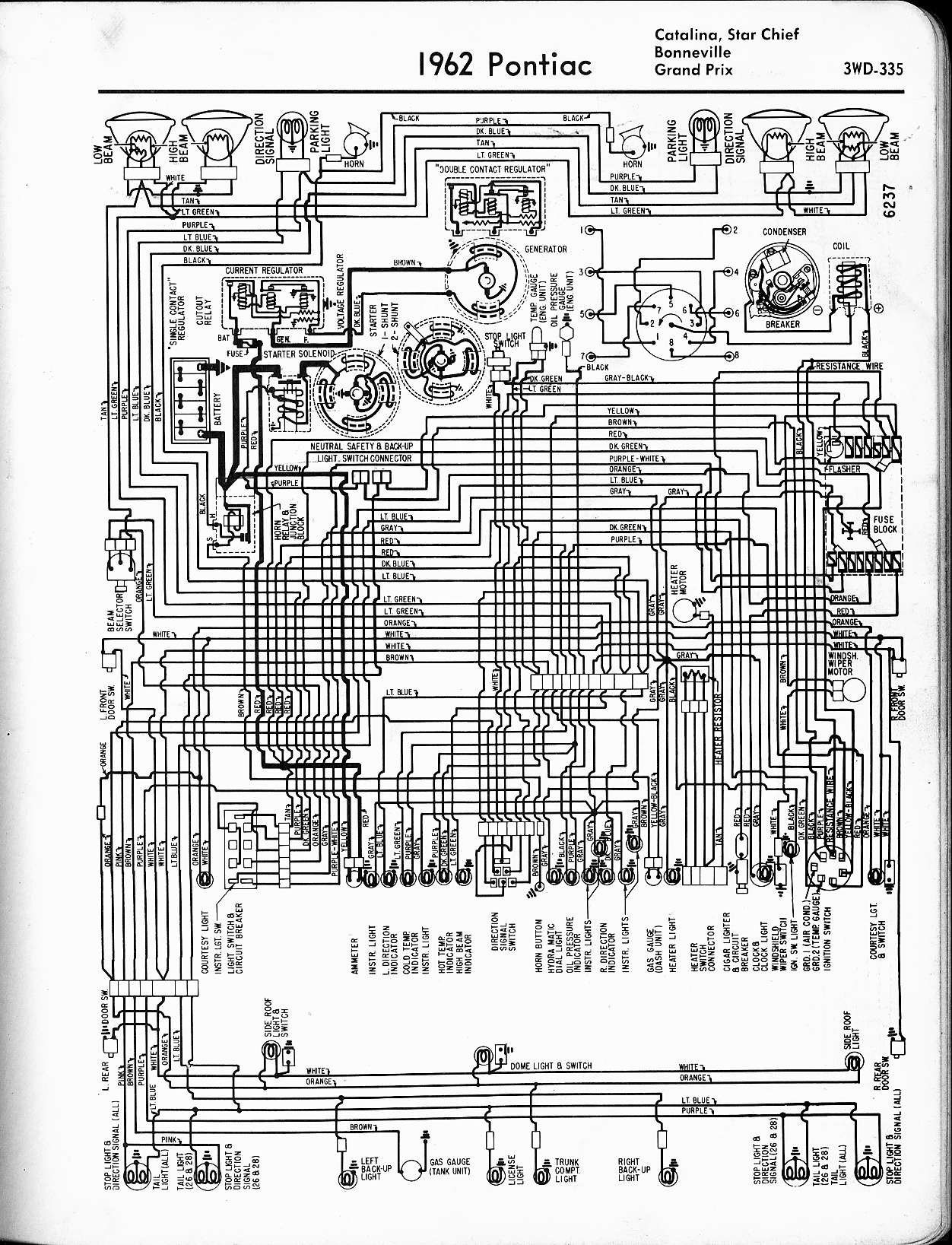 pontiac wiring 1957 1965 rh oldcarmanualproject com Ezgo Golf Cart Wiring Diagram Whelen Light Bar Wiring Diagram
